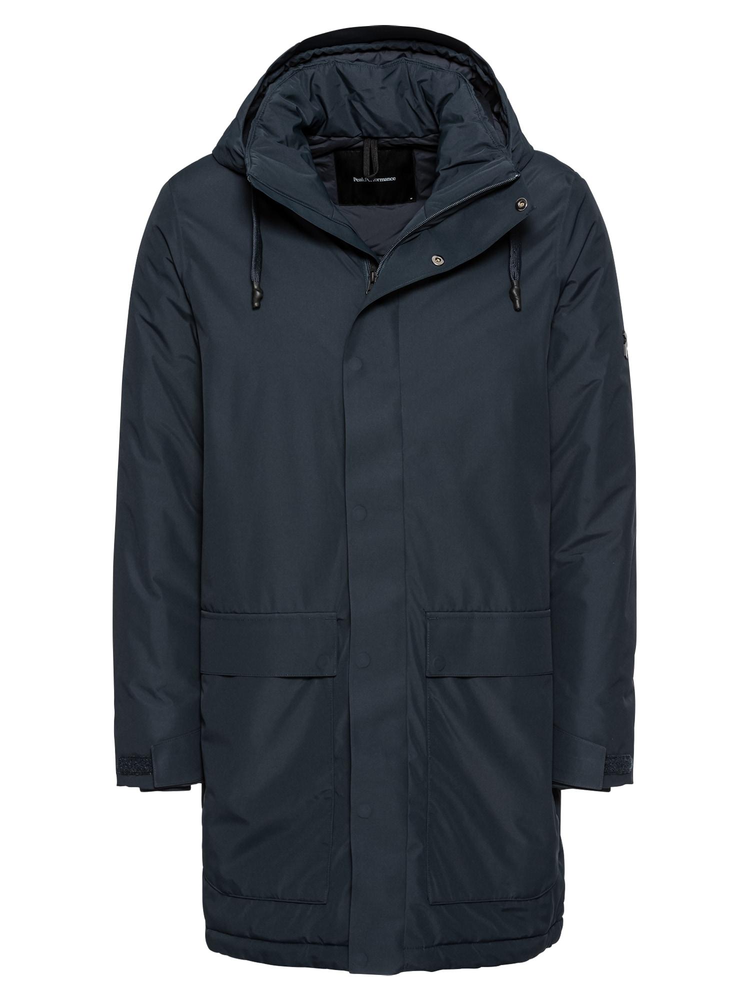 PEAK PERFORMANCE Zimní kabát 'UNIT J'  tmavě modrá