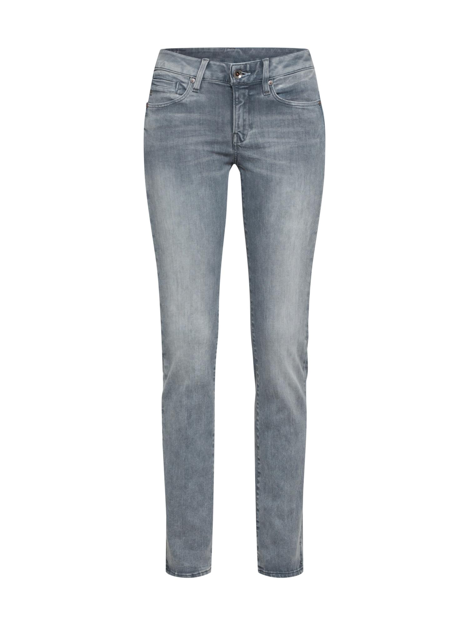 G-STAR RAW Dames Jeans Midge Mid Straight Wmn grijs