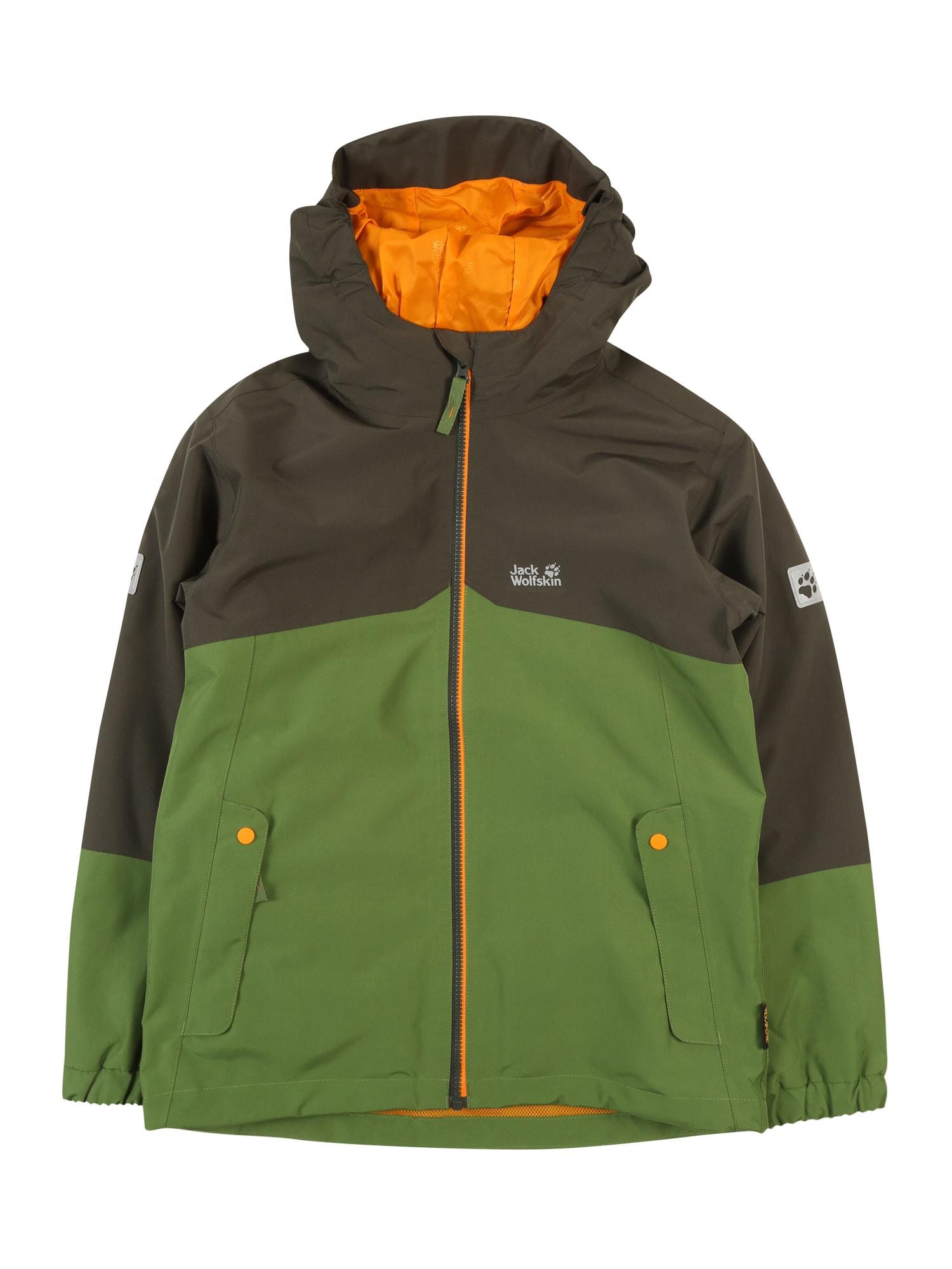 Funkční bunda B ICELAND 3IN1 JKT zelená černá JACK WOLFSKIN
