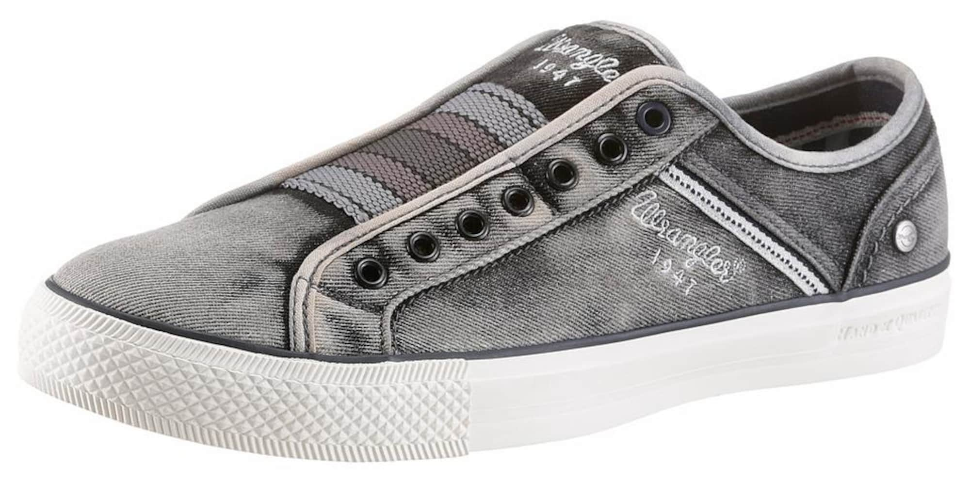 WRANGLER Heren Sneakers laag Starry Slip On donkergrijs
