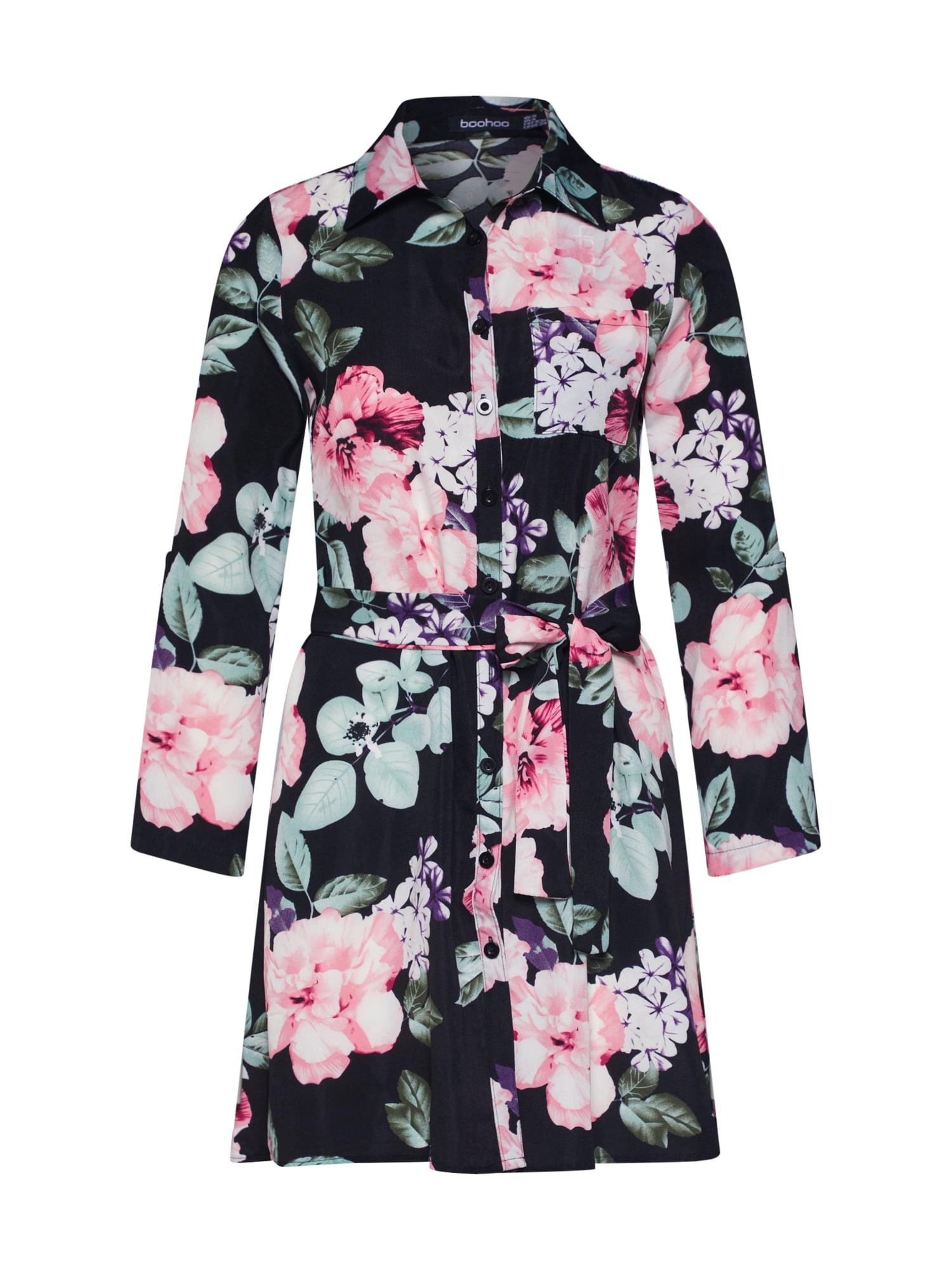 Košilové šaty mix barev růžová černá Boohoo