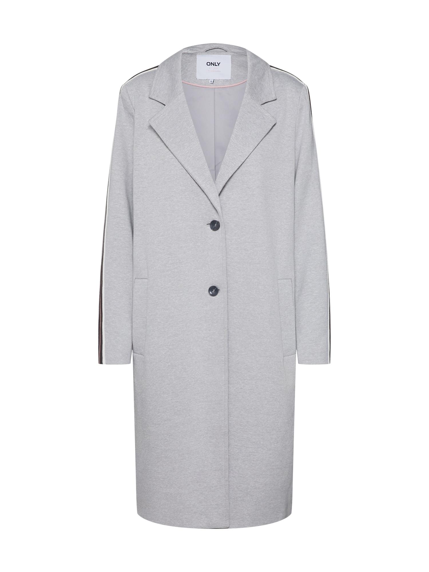Přechodný kabát Liselle Ruby světle šedá ONLY