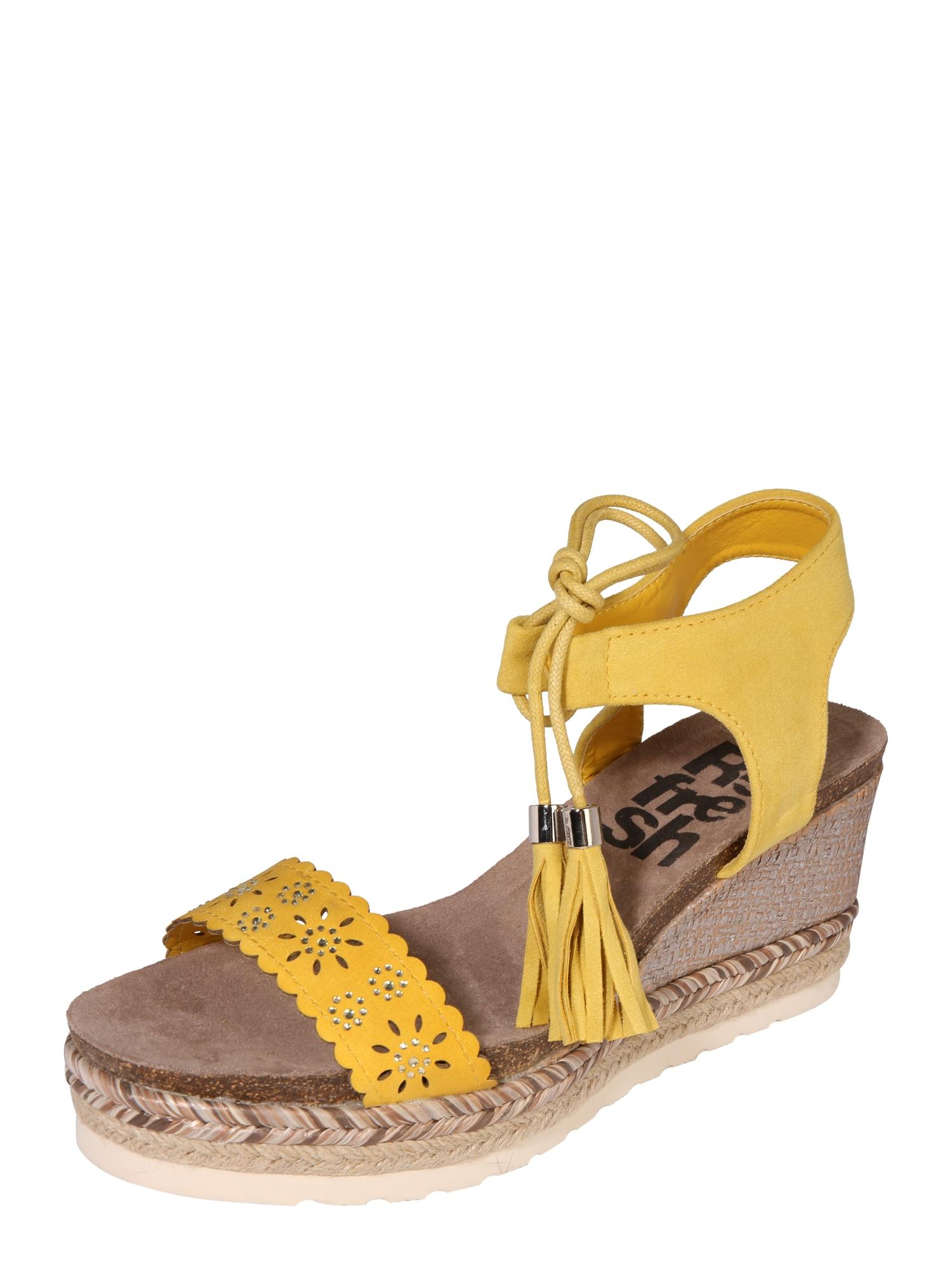 Sandály žlutá Refresh
