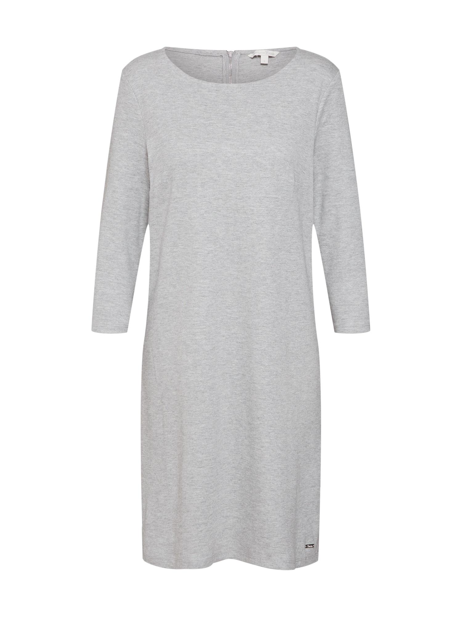Šaty Easy stříbrně šedá TOM TAILOR DENIM