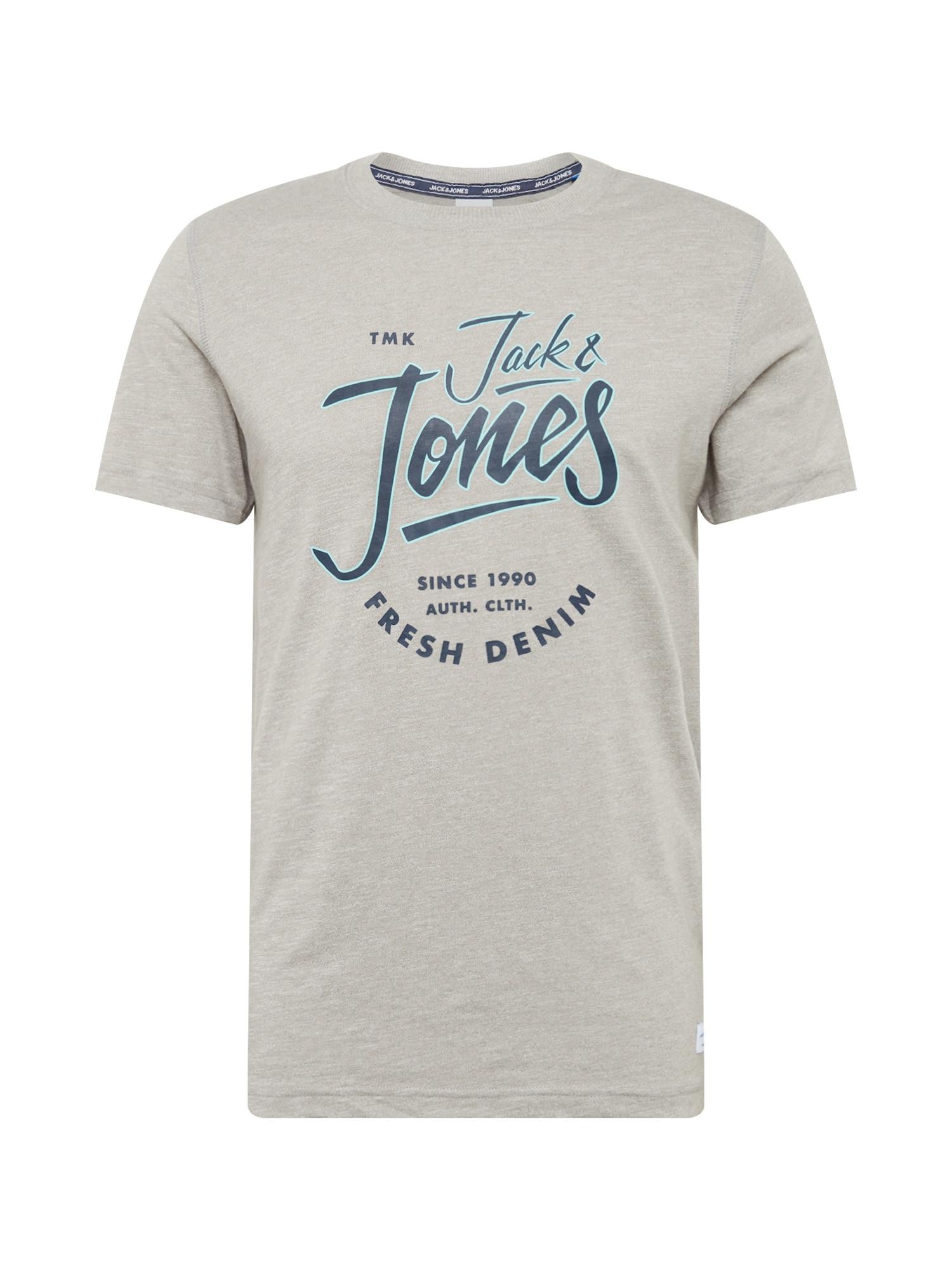 Tričko BEAMS TEE tmavě modrá světle šedá JACK & JONES