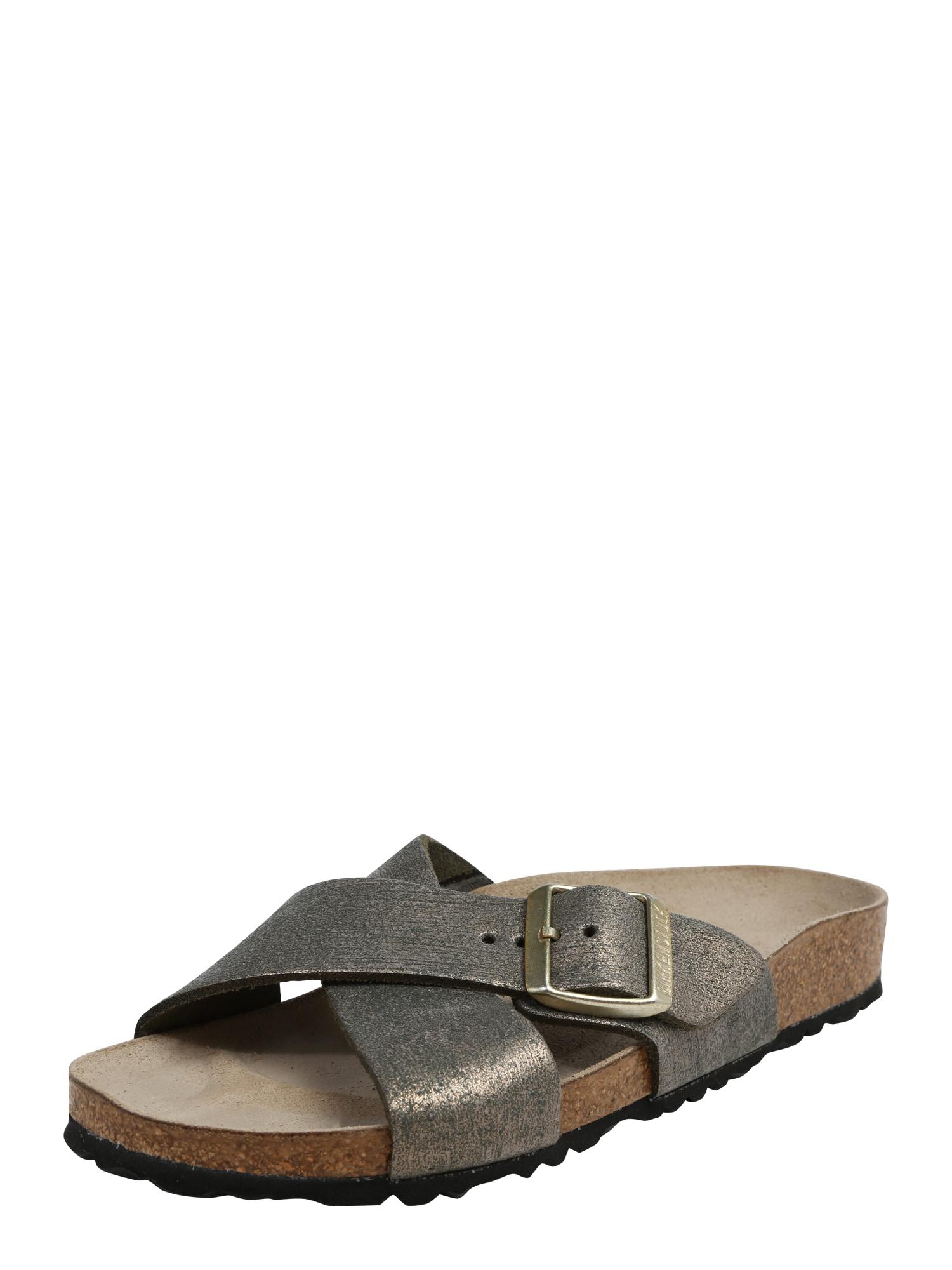 Pantofle Siena Sliced Metallic zlatá kámen BIRKENSTOCK
