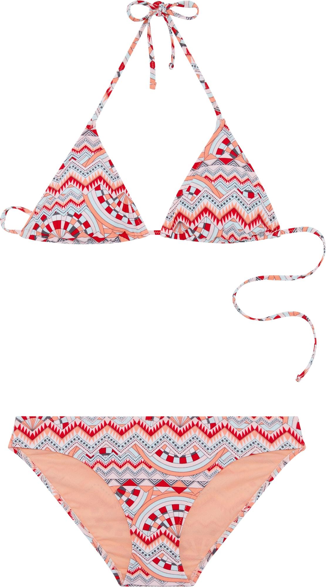 CHIEMSEE, Dames Bikini 'LANA', lichtblauw / koraal / rood