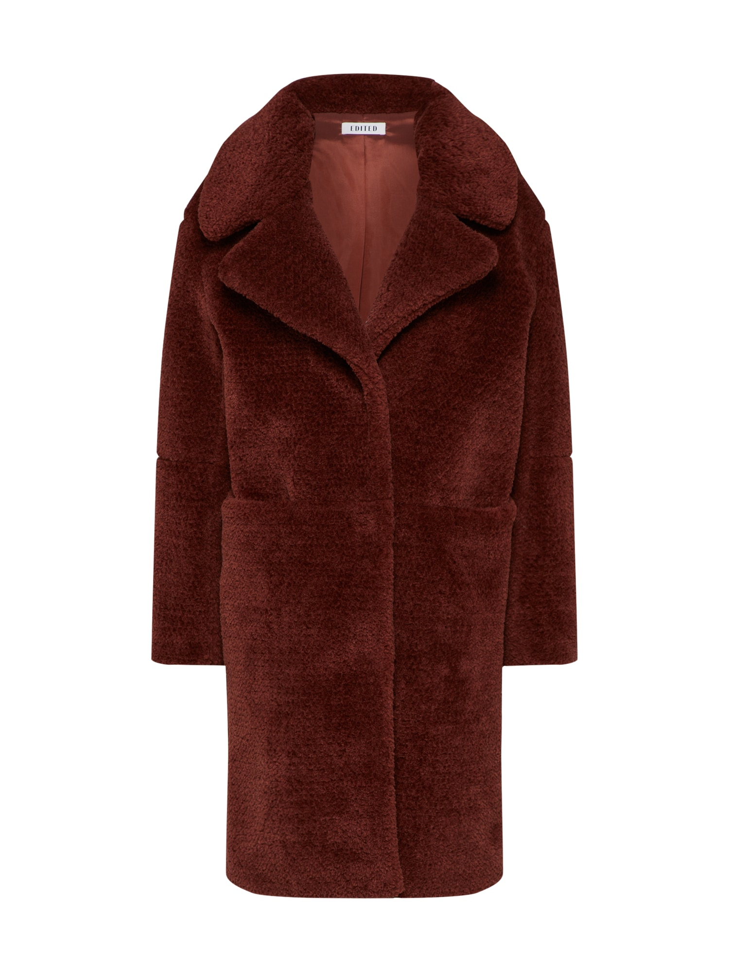 Zimní kabát Bianca rezavě hnědá EDITED