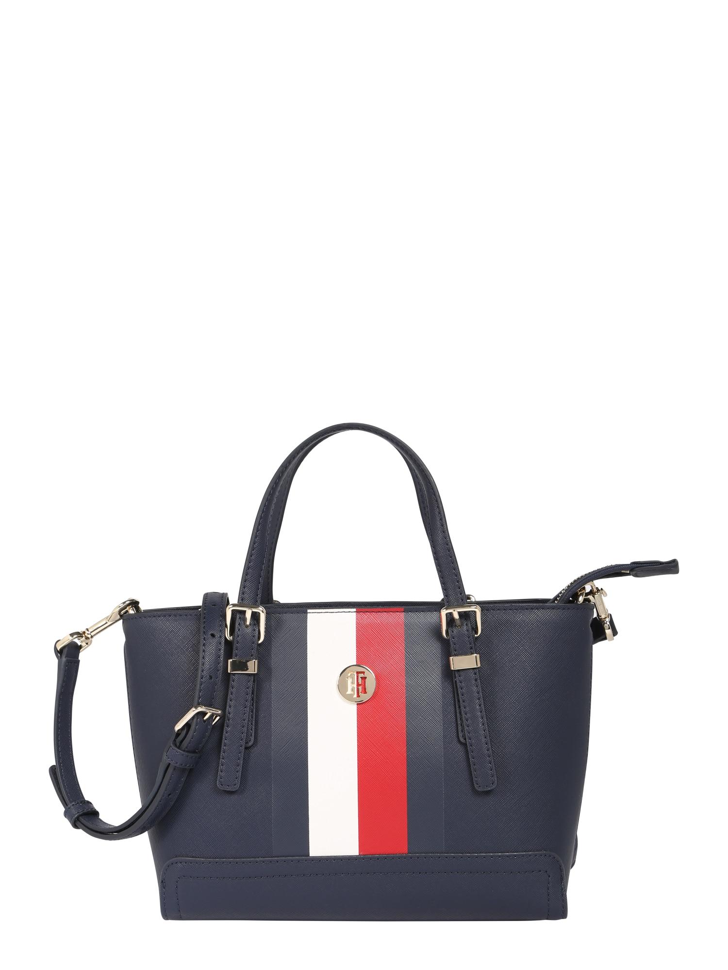 Nákupní taška HONEY SMALL TOTE CORP modrá červená bílá TOMMY HILFIGER