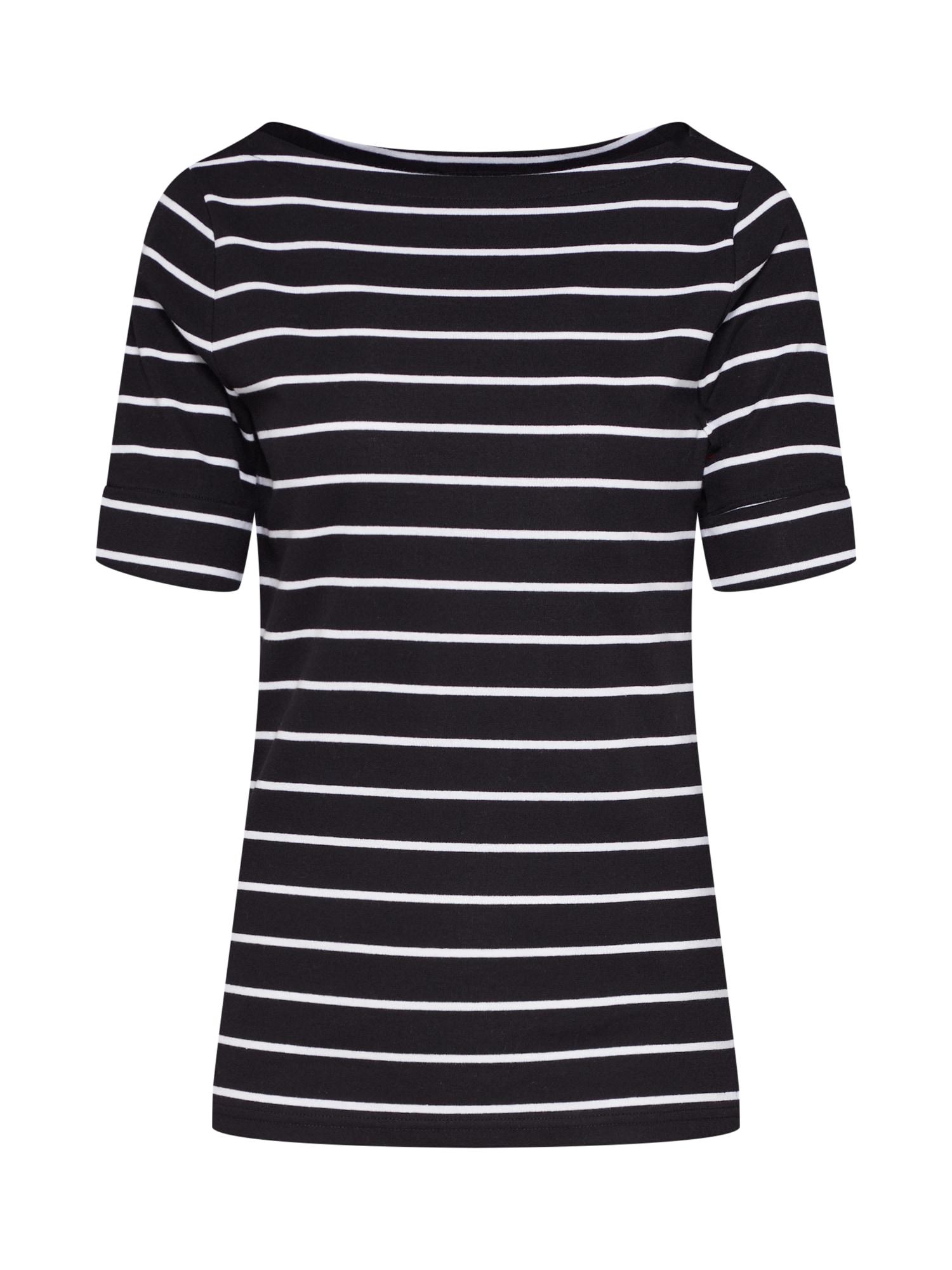 Tričko JUDY černá bílá Lauren Ralph Lauren