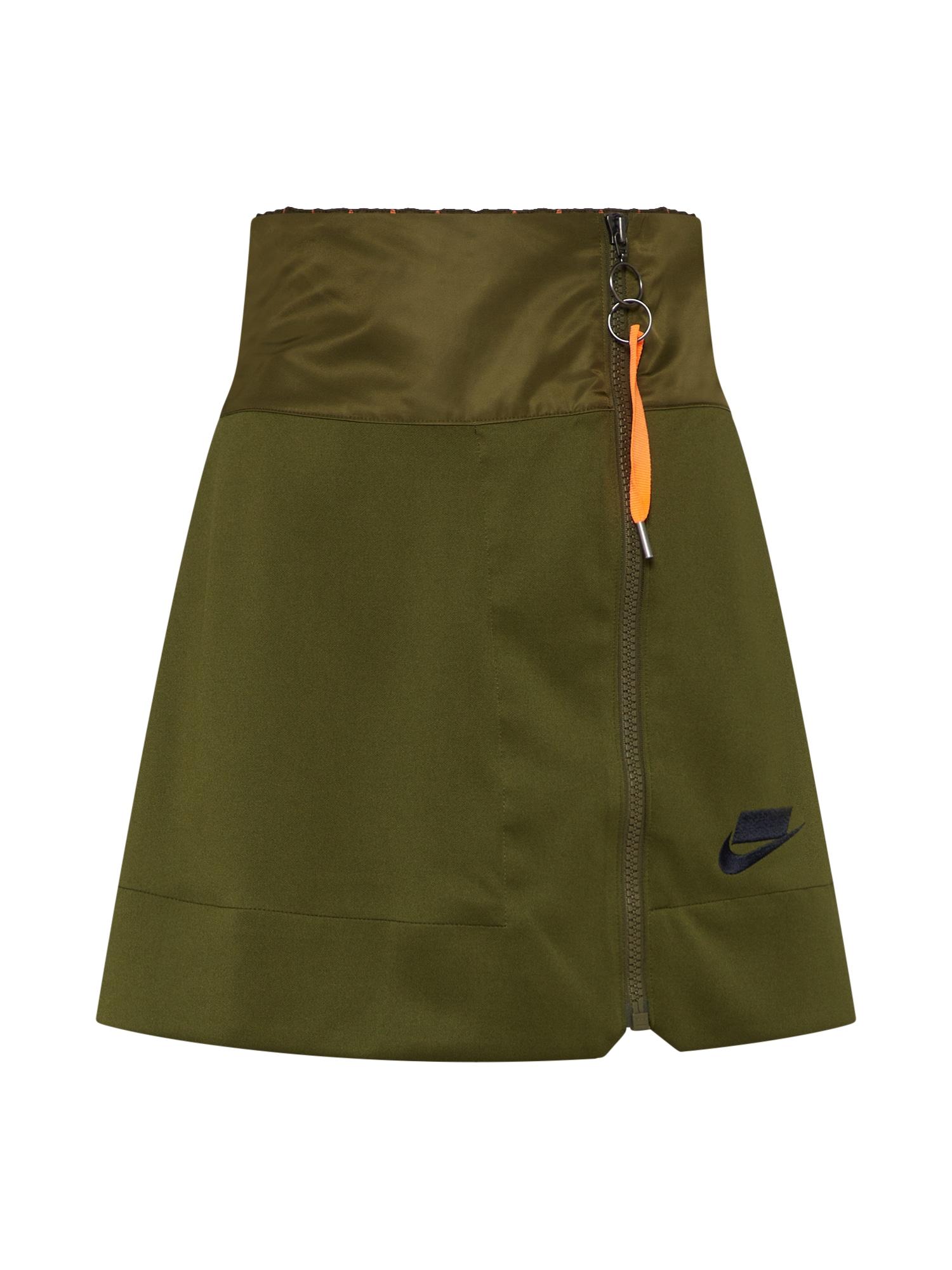 Sukně olivová Nike Sportswear