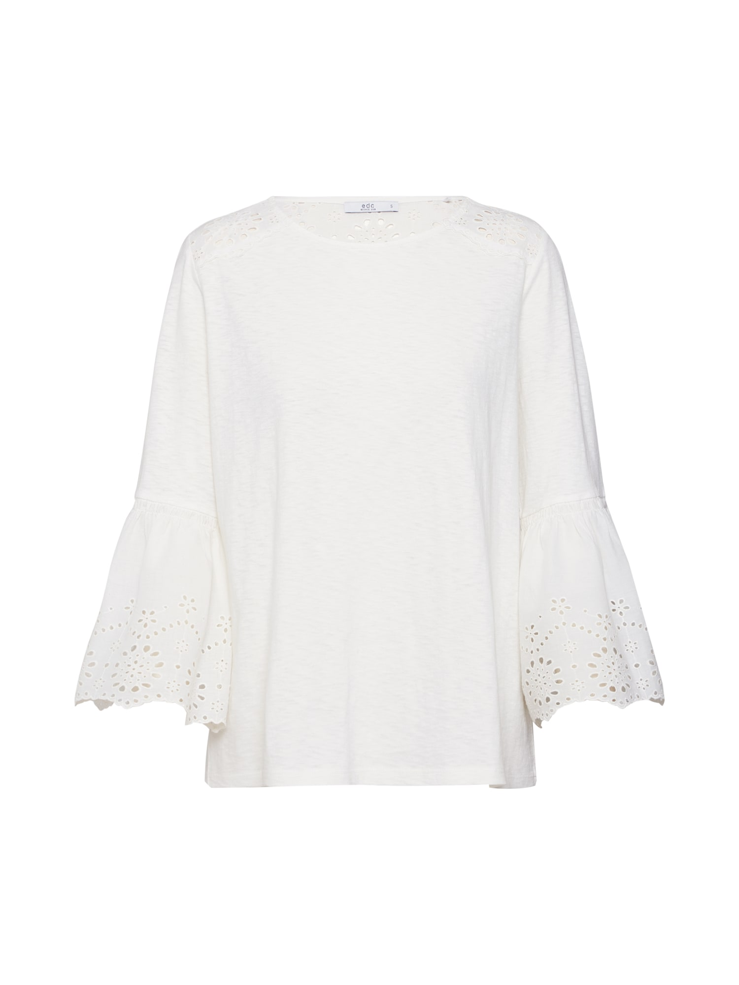 Tričko Broidery přírodní bílá EDC BY ESPRIT