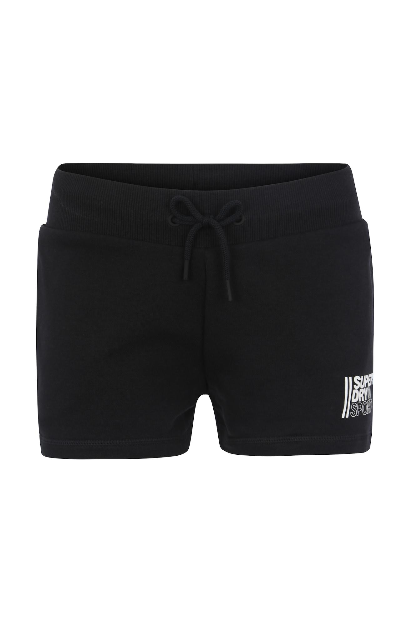 Sportovní kalhoty Core Sport Shorts černá Superdry