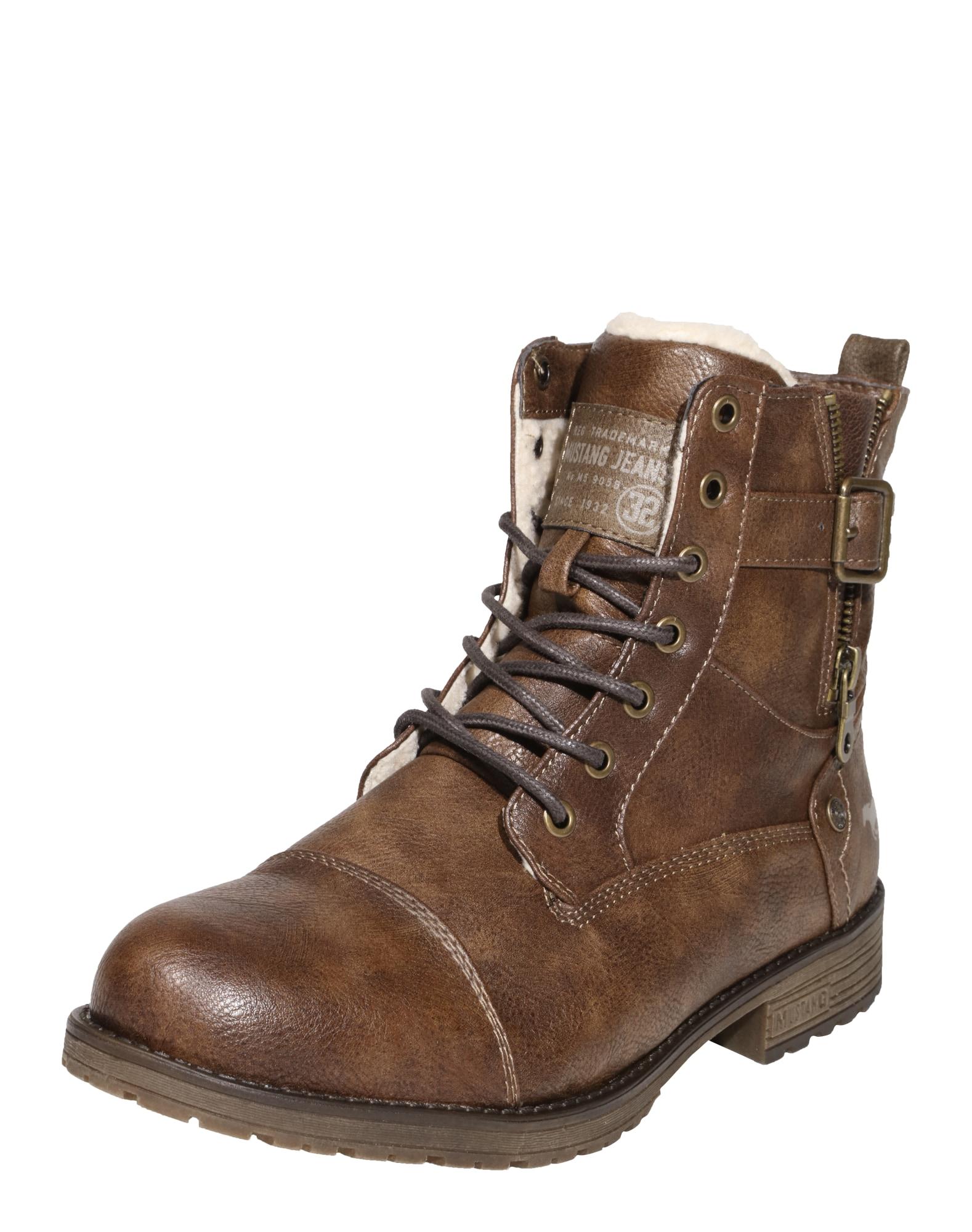 Šněrovací boty hnědá MUSTANG