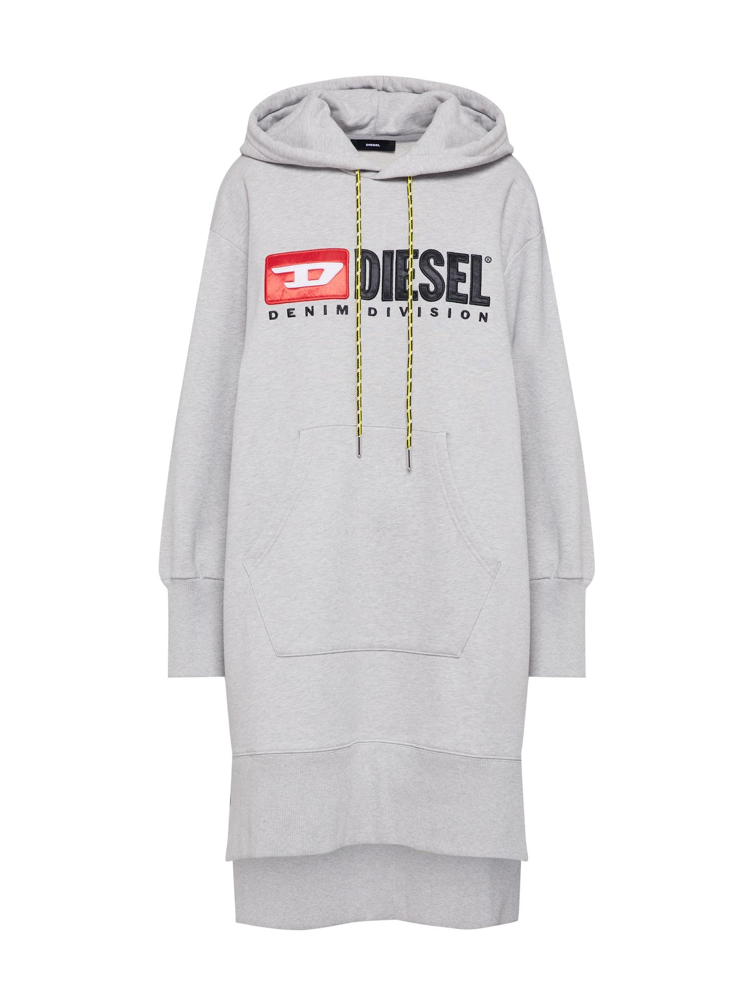 Maxi šaty D-Ilce-C žlutá šedá červená černá DIESEL