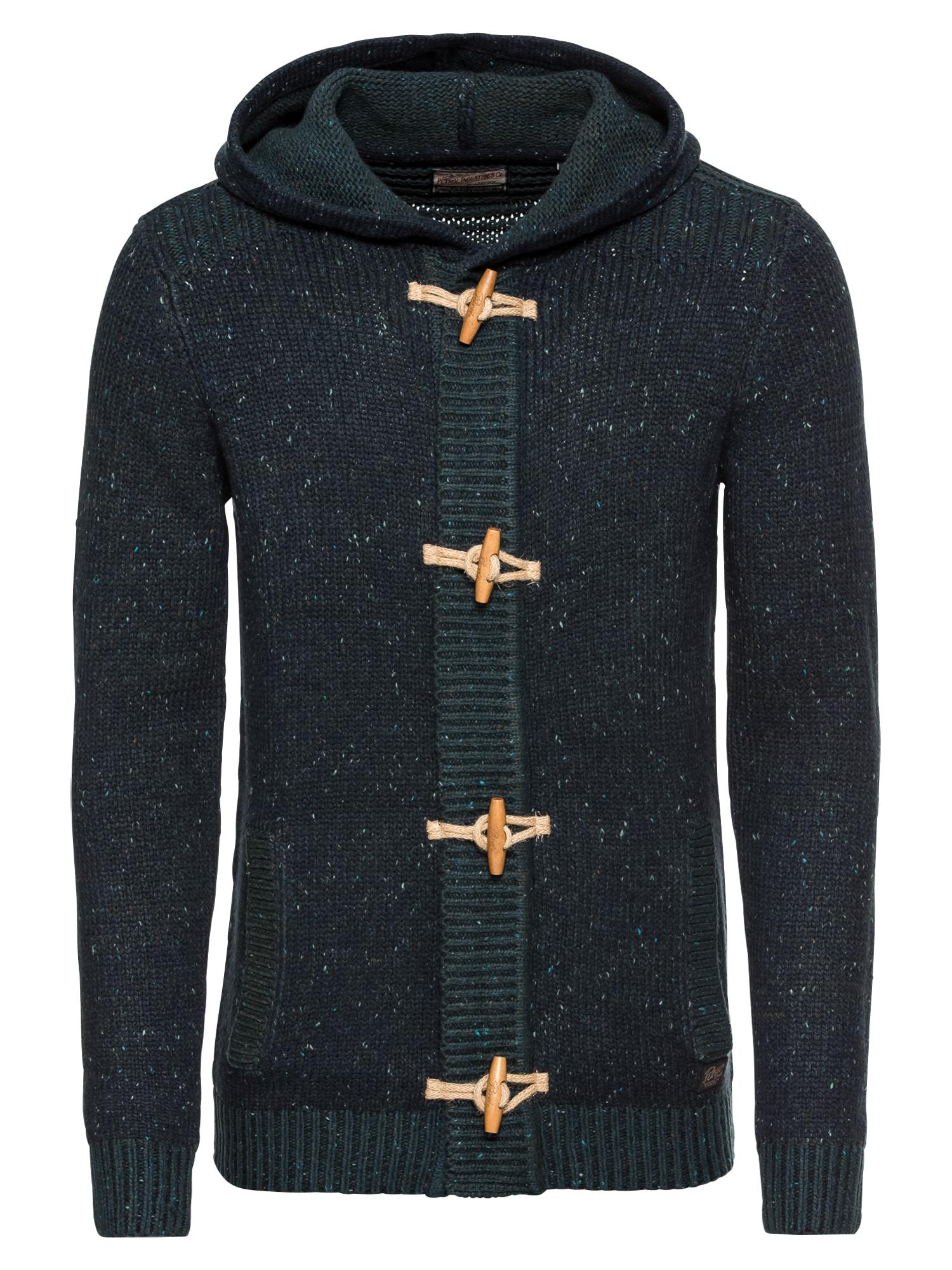 Kardigan Men Knitwear Hooded námořnická modř Petrol Industries