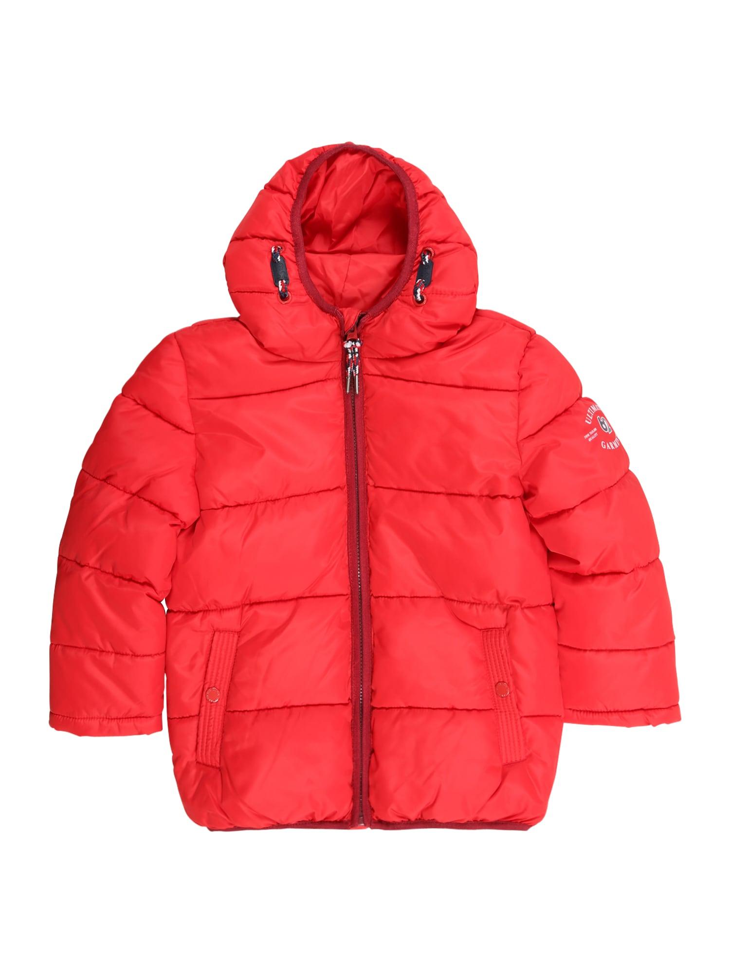 Zimní bunda světle červená TOM TAILOR