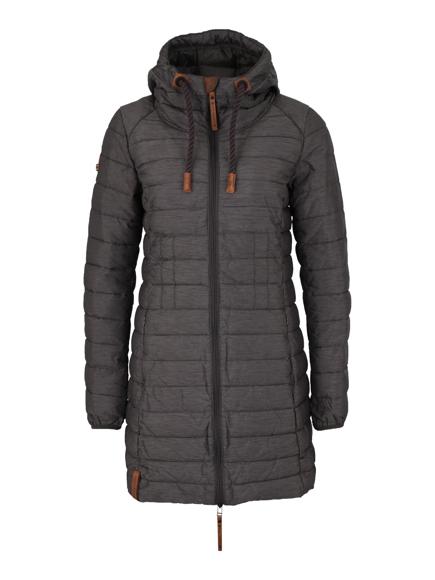 Zimní kabát bronzová antracitová Naketano