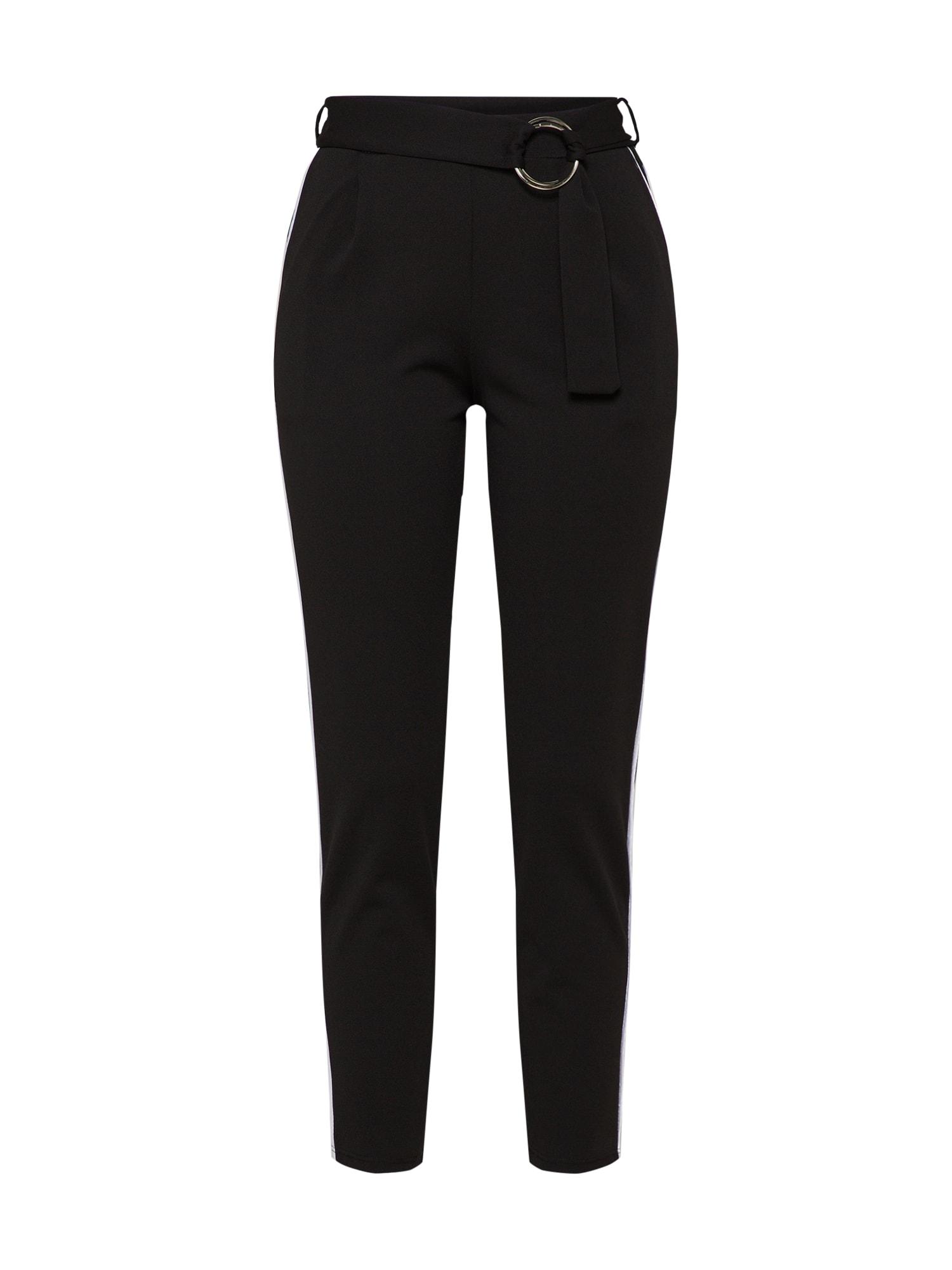 Kalhoty se sklady v pase černá WAL G.