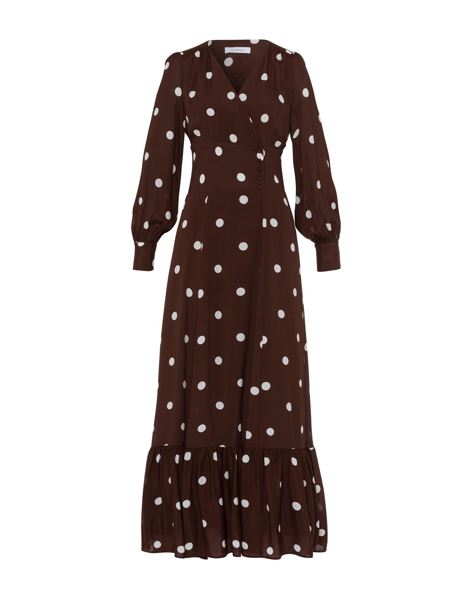 Společenské šaty čokoládová bílá IVY & OAK