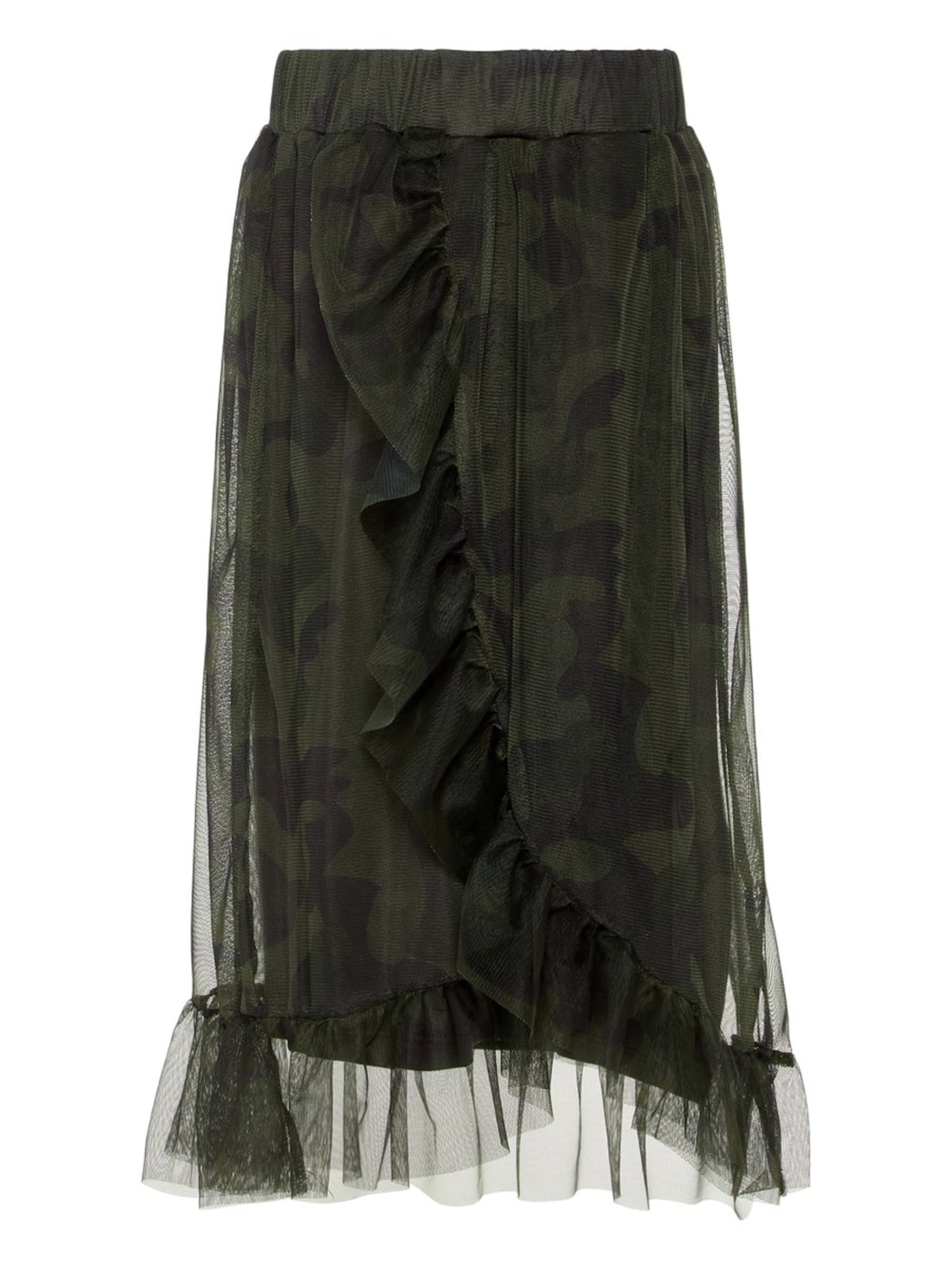 NAME IT Teen Midi Mesh Skirt Dames Green