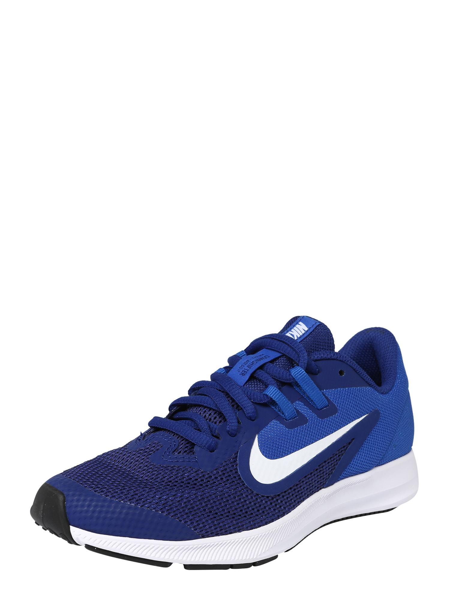 Sportovní boty Nike Downshifter 9 královská modrá tmavě modrá bílá NIKE