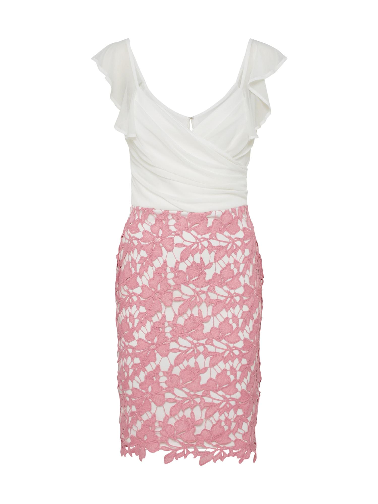 Lipsy Sukienka koktajlowa  różowy / biały