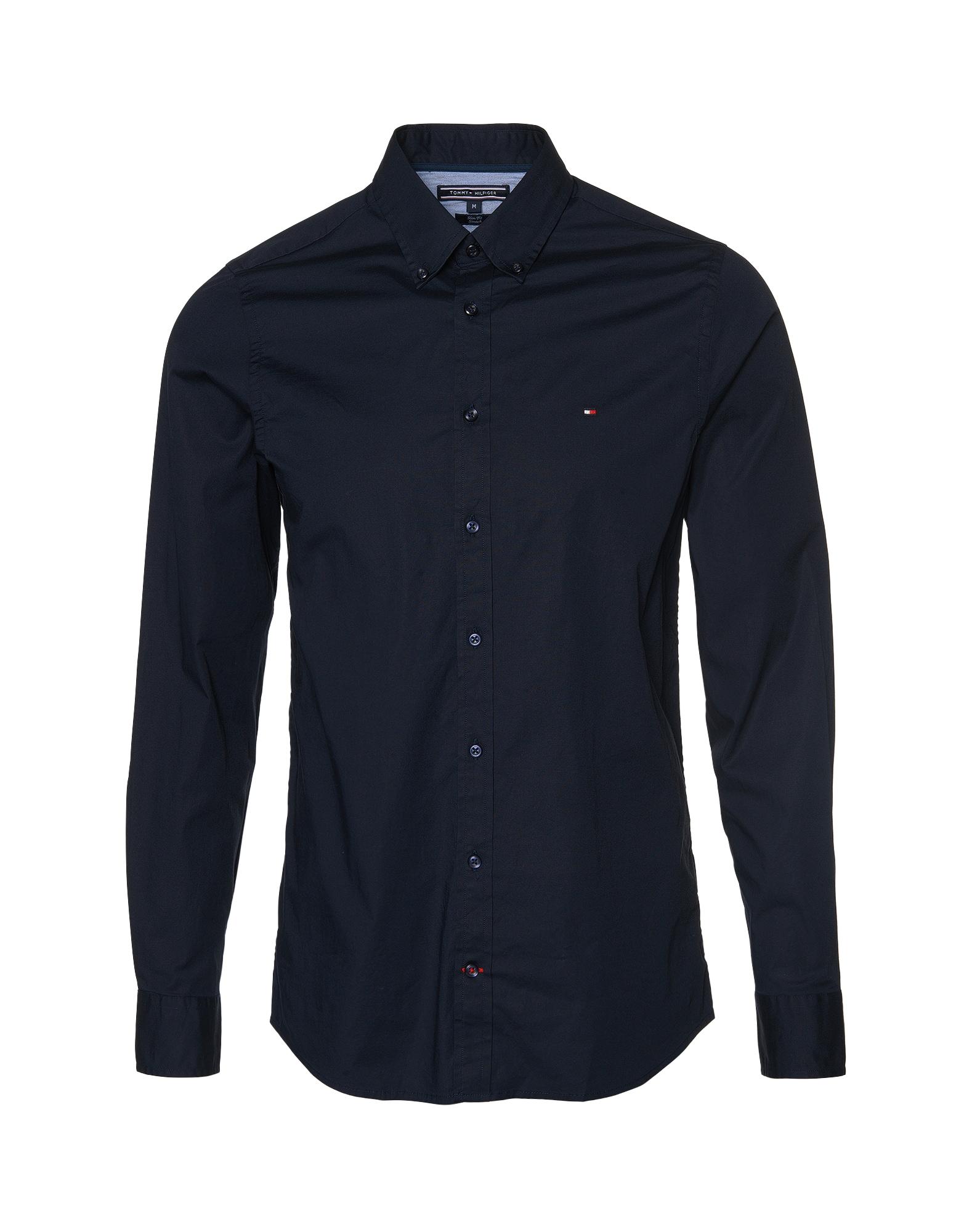Společenská košile tmavě modrá TOMMY HILFIGER