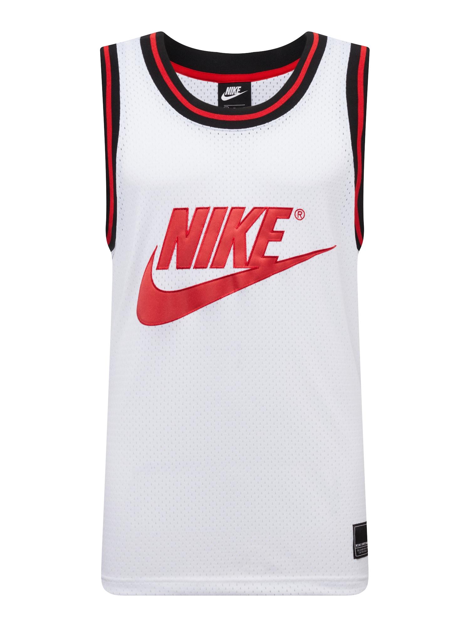 Tričko světle červená bílá Nike Sportswear