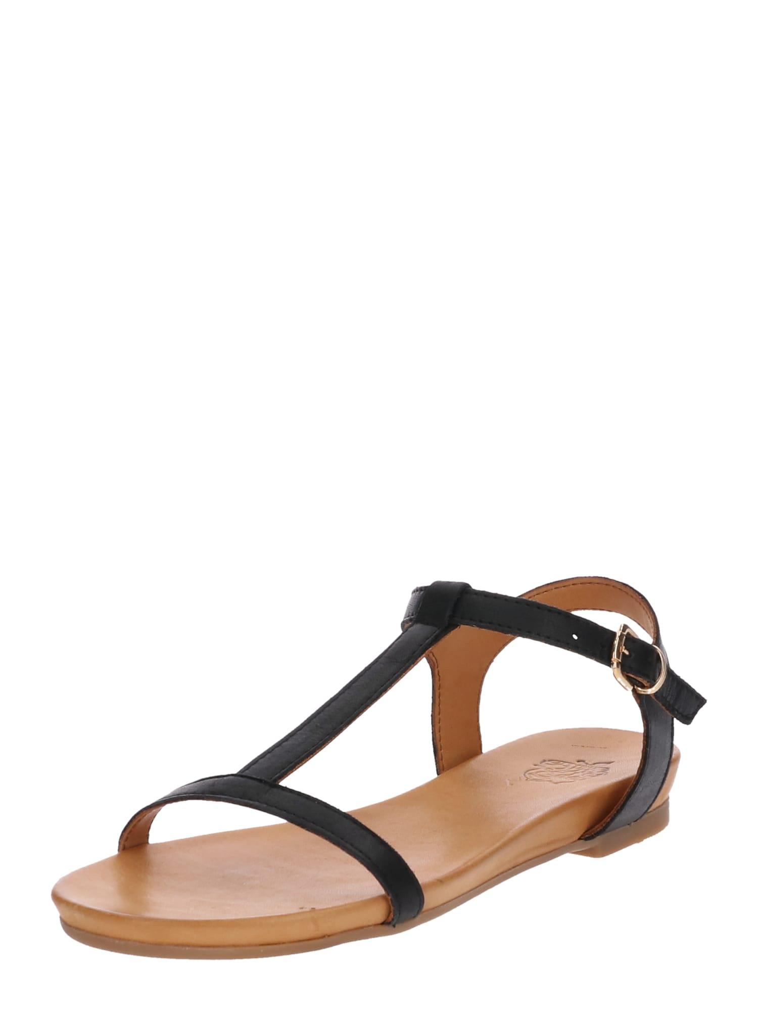 Páskové sandály Dora béžová černá Apple Of Eden