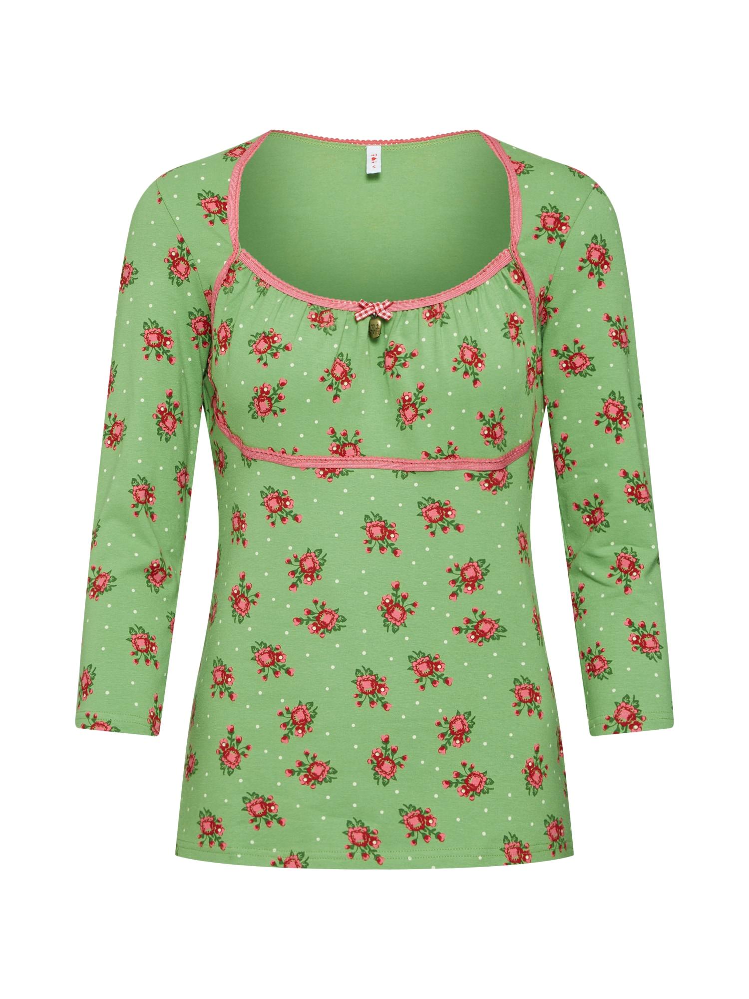 Tričko schützenliesel longsie zelená červená Blutsgeschwister