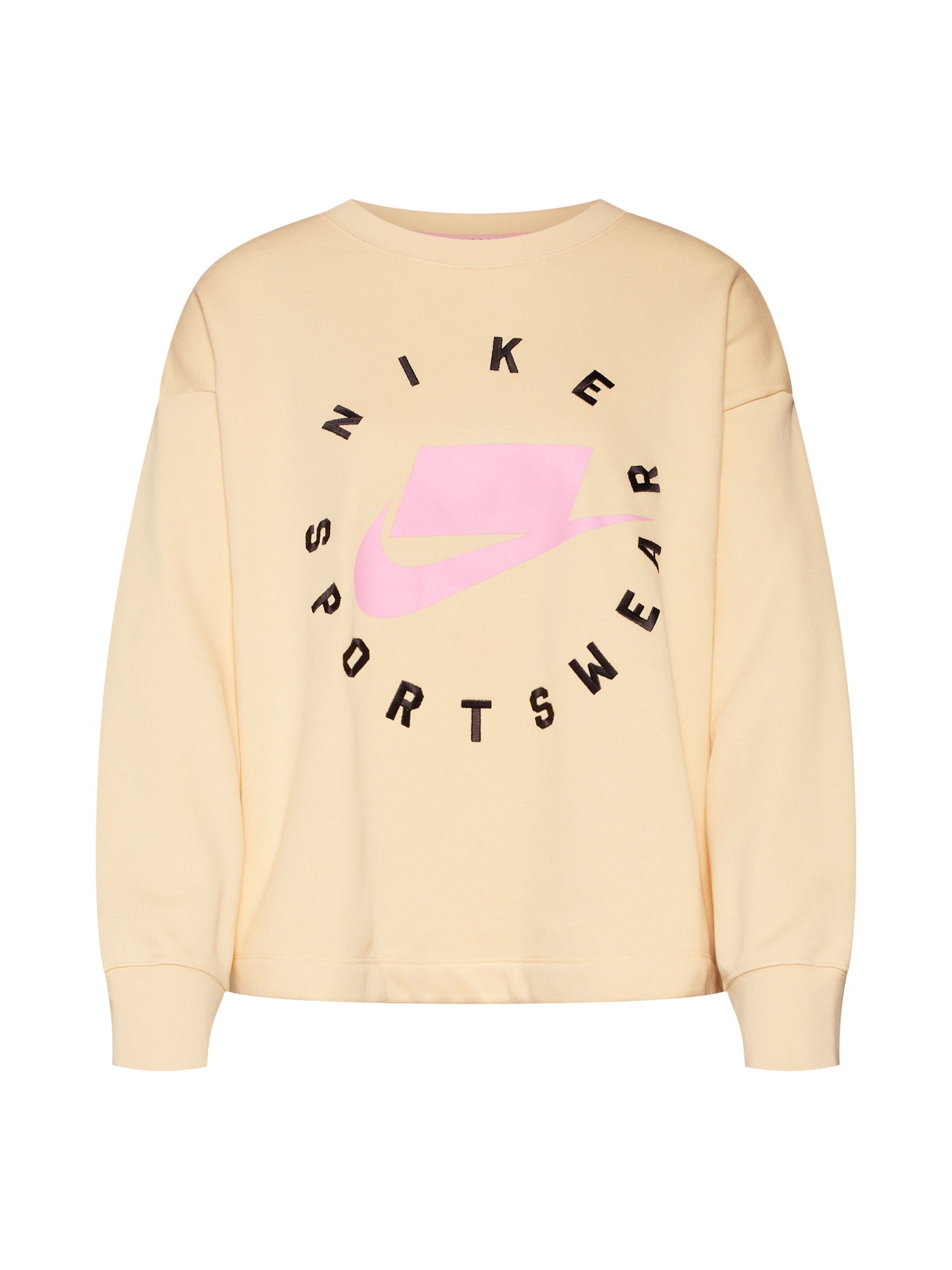 Mikina meruňková světle růžová černá Nike Sportswear