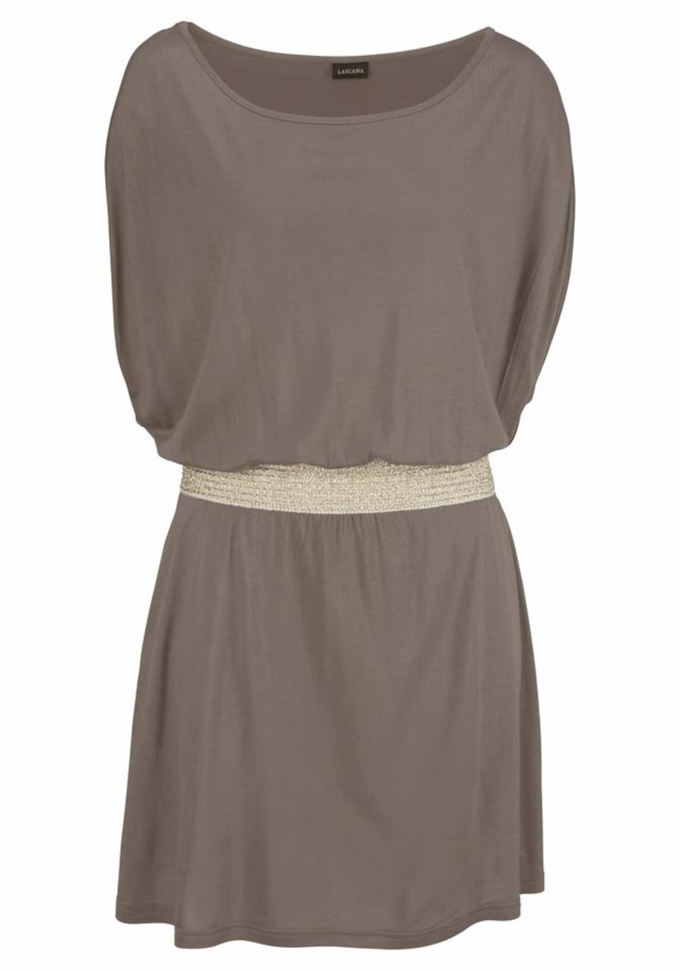 Plážové šaty krémová kámen LASCANA