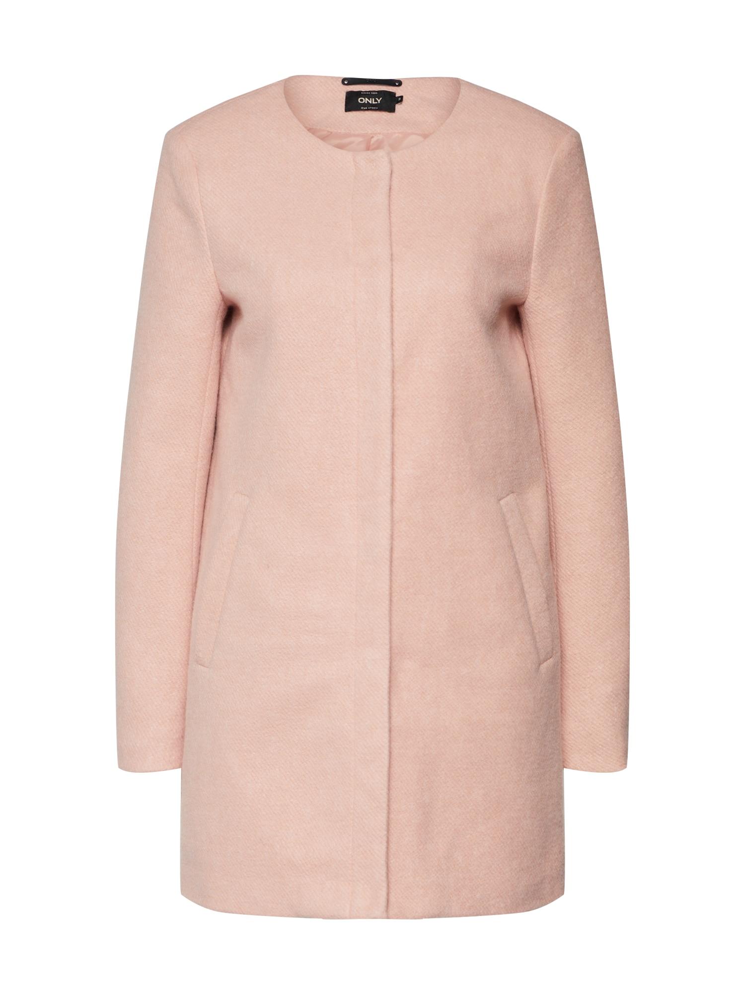 Přechodný kabát růžová ONLY