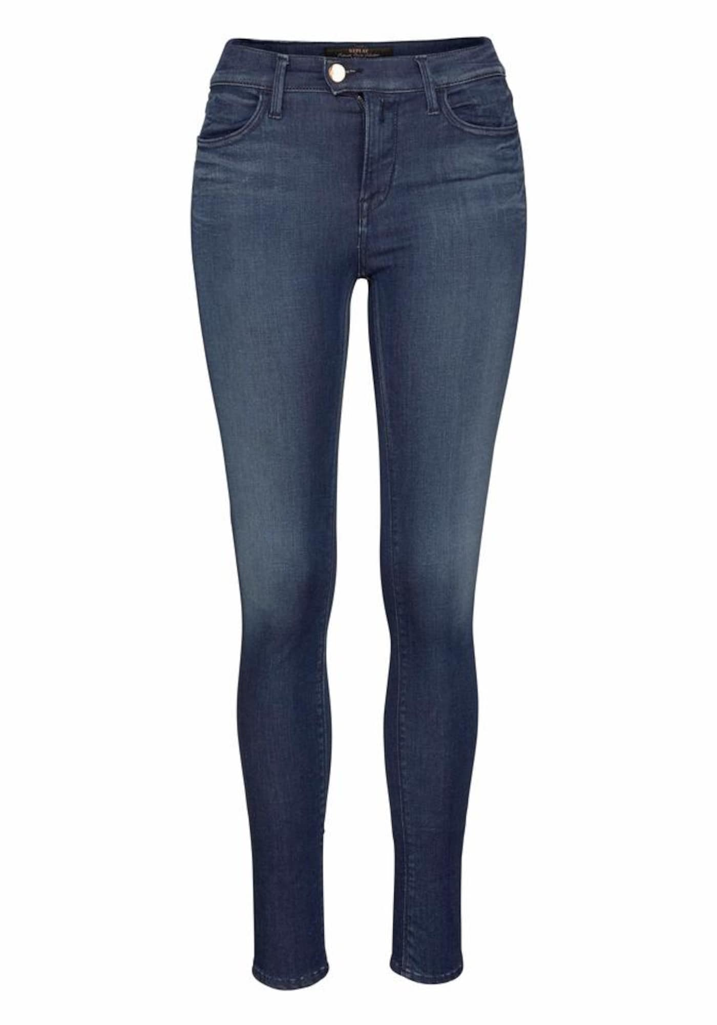 REPLAY Dames Jeans TOUCH Mid donkerblauw