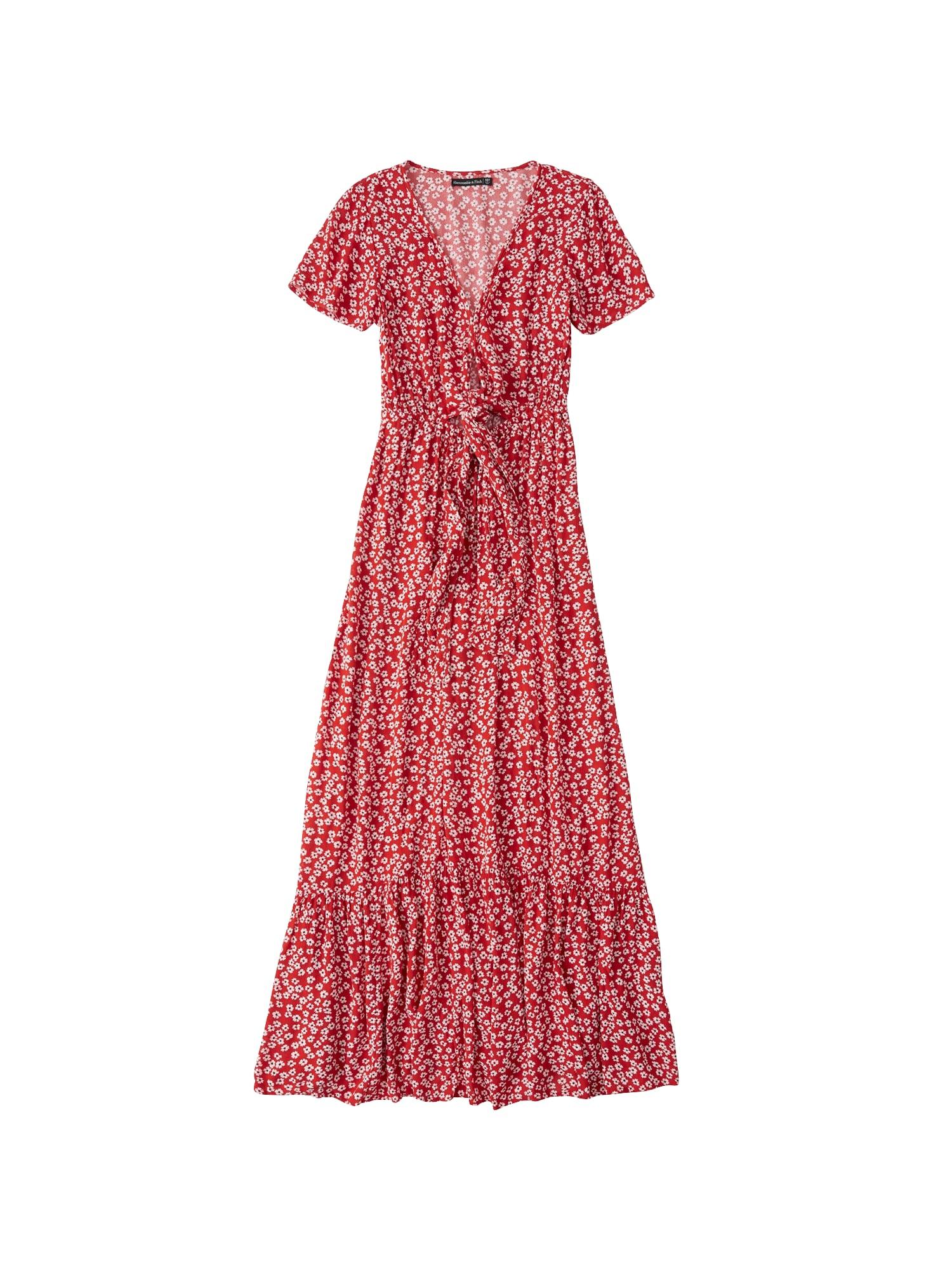 Letní šaty rot weiß Abercrombie & Fitch