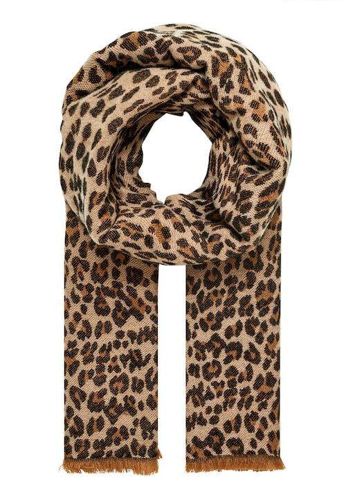 Winterschal mit Leopardenmuster