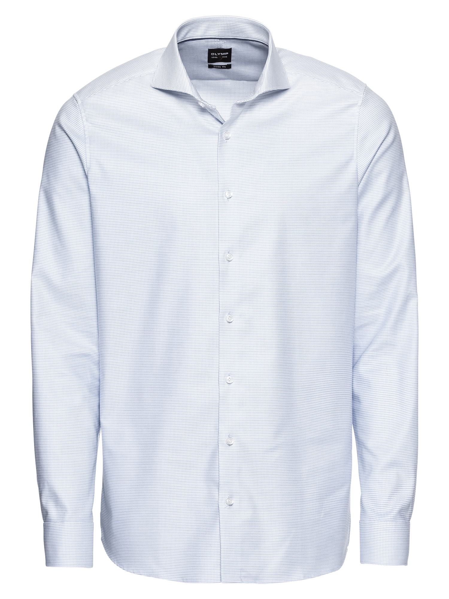 Společenská košile Level 5 Struktur Twill světlemodrá OLYMP