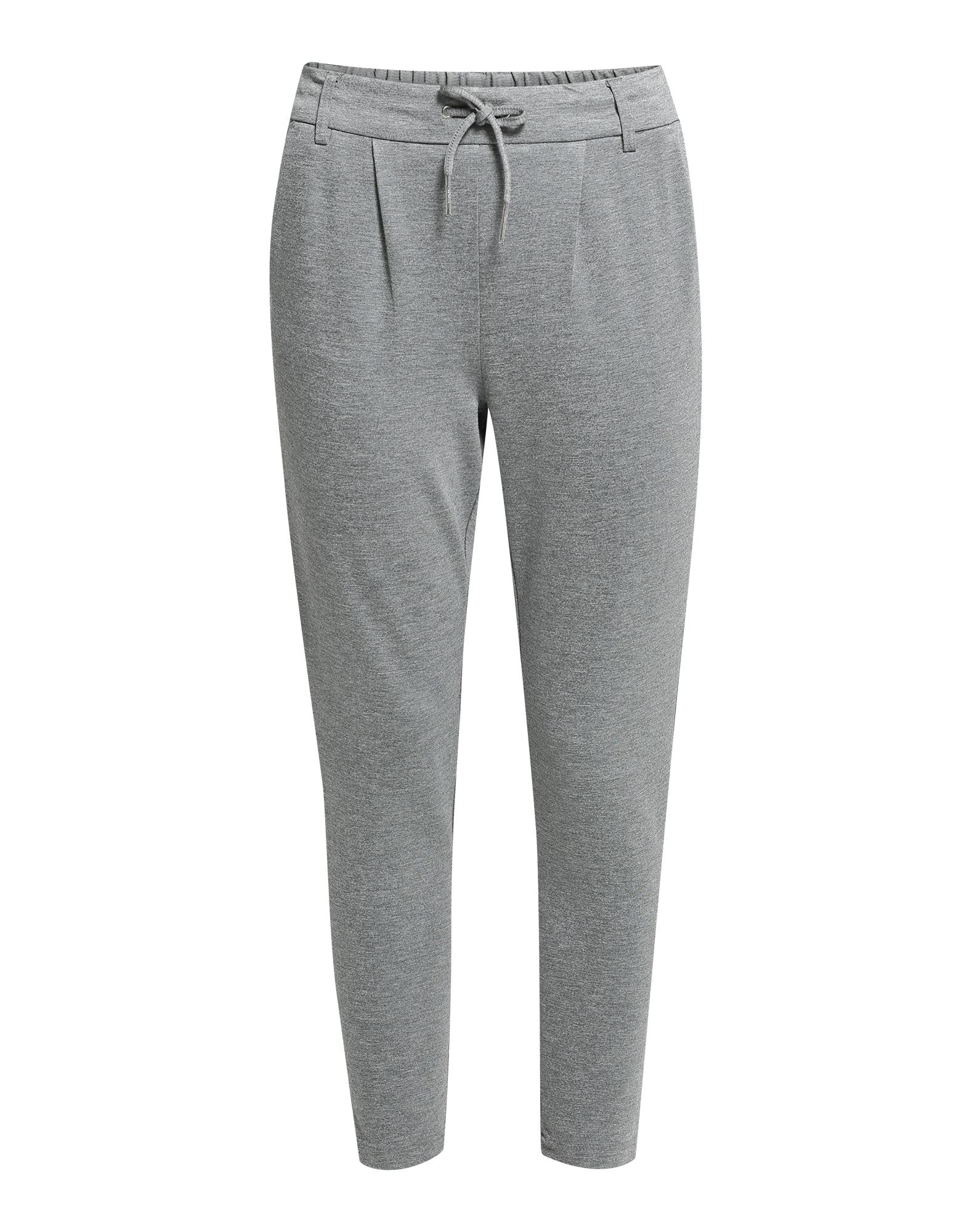 Kalhoty se sklady v pase Poptrash šedý melír ONLY