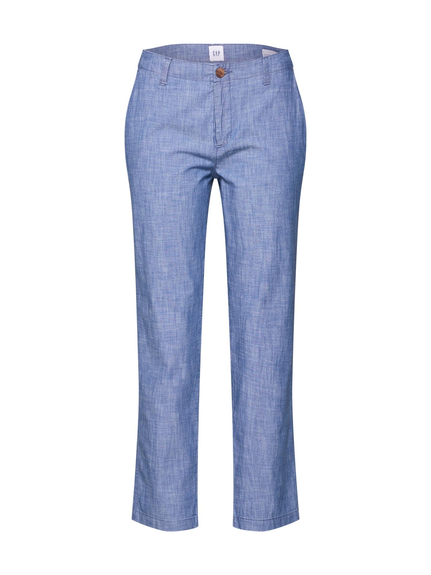 Kalhoty V-GIRLFRIEND KHAKI CHAMBRAY indigo GAP