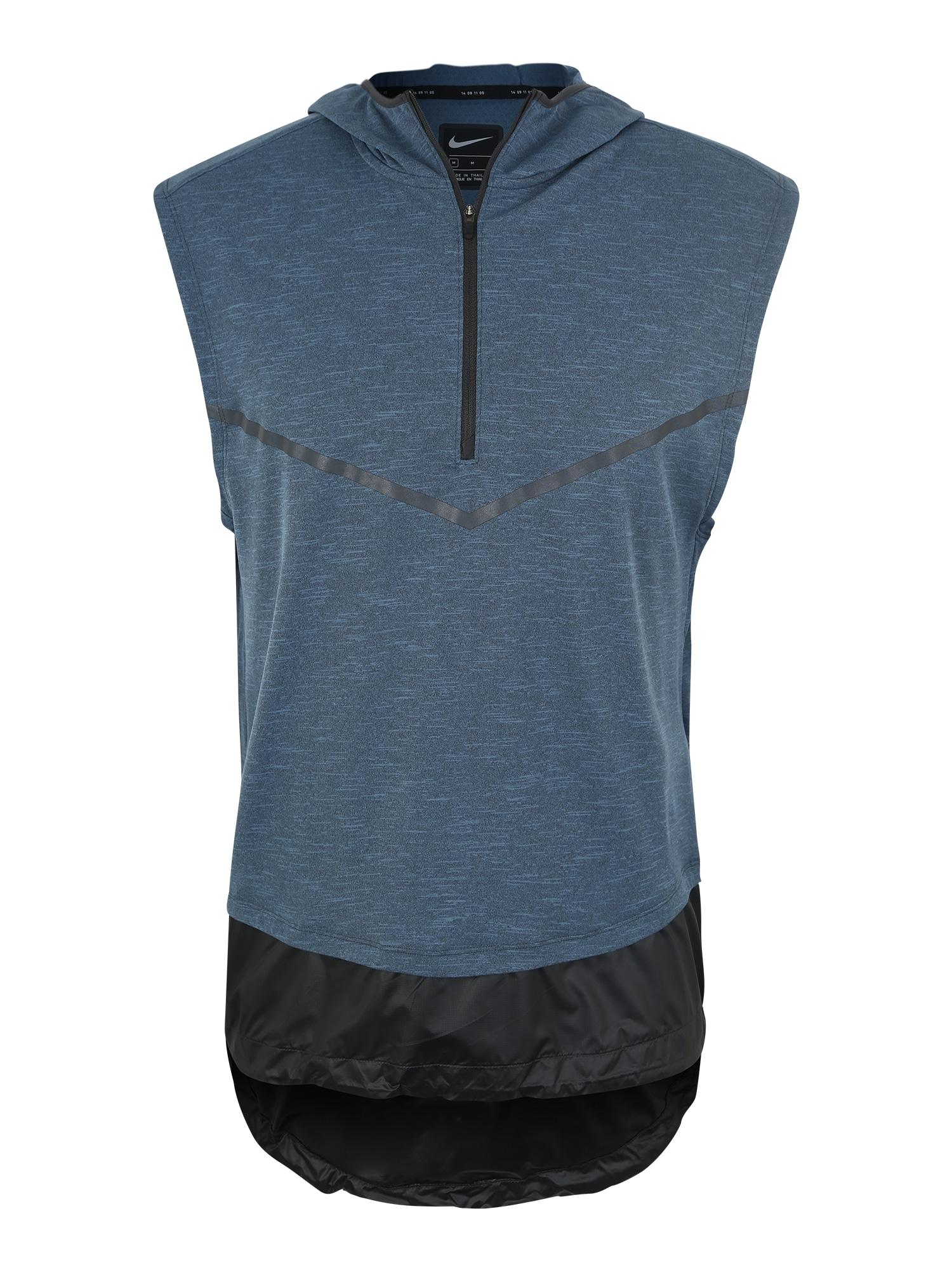 Funkční tričko tmavě modrá černá NIKE