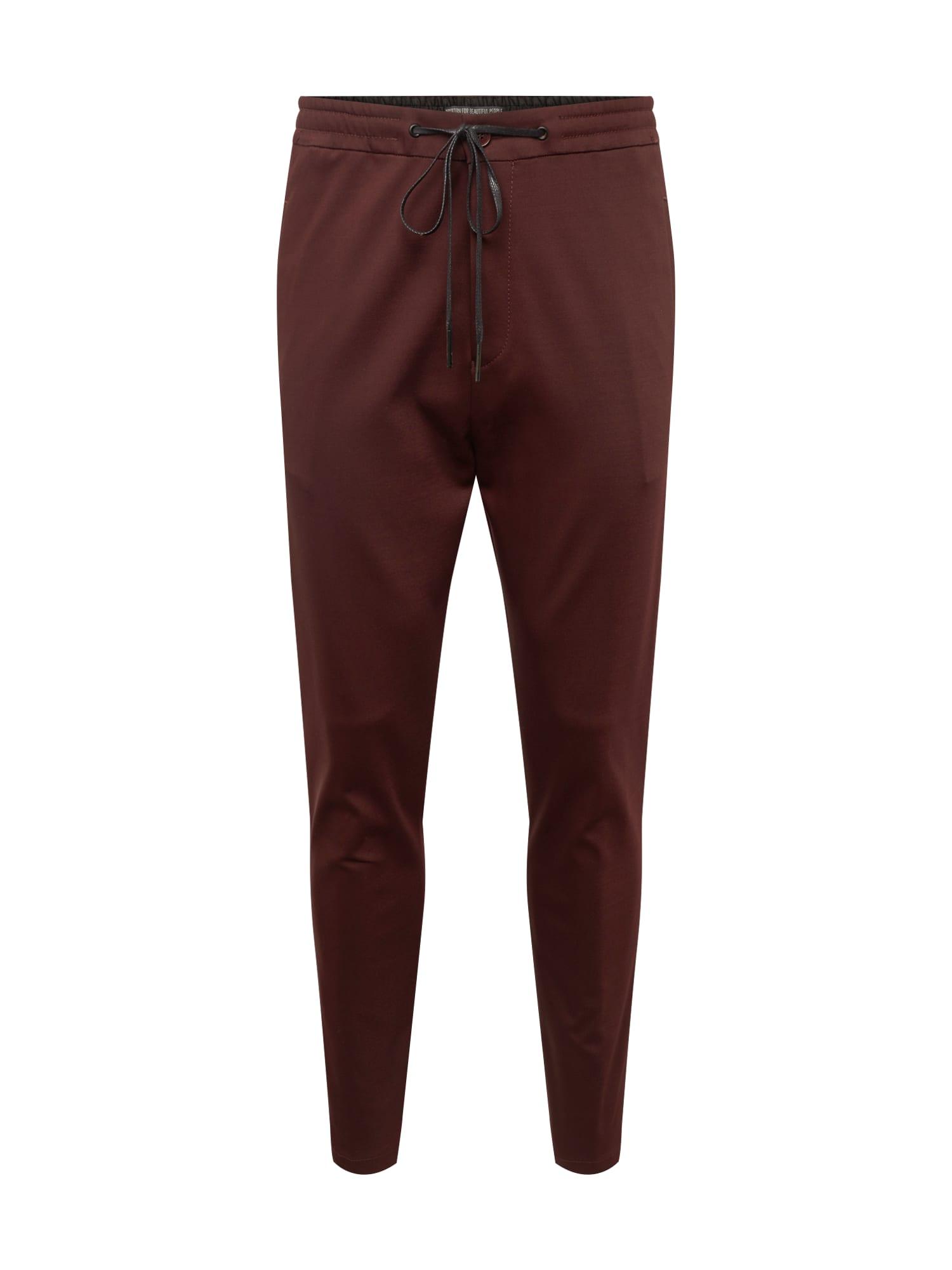Kalhoty JEGER vínově červená DRYKORN