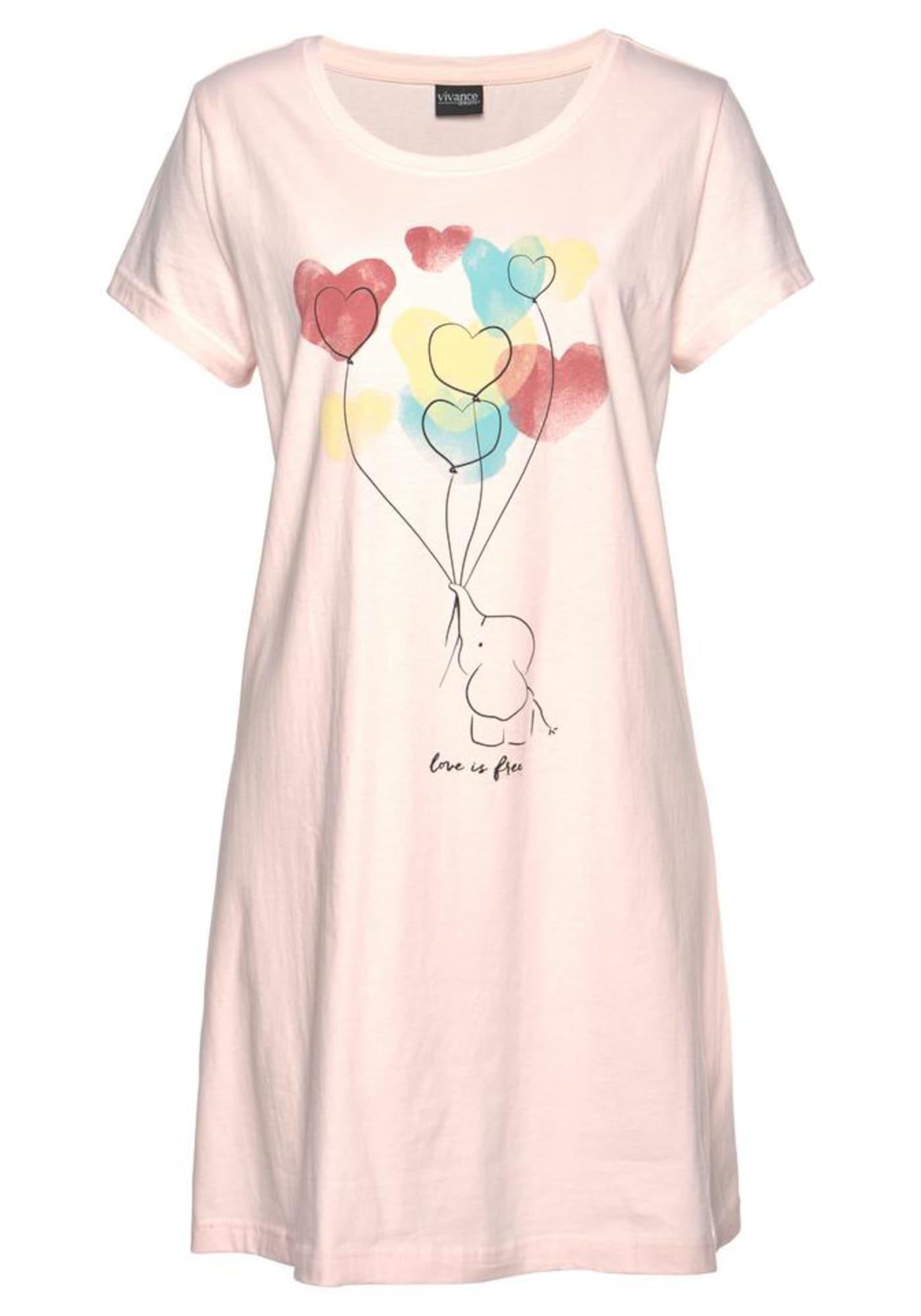 Nachthemd | Bekleidung > Nachtwäsche > Nachthemden | Rosa | VIVANCE
