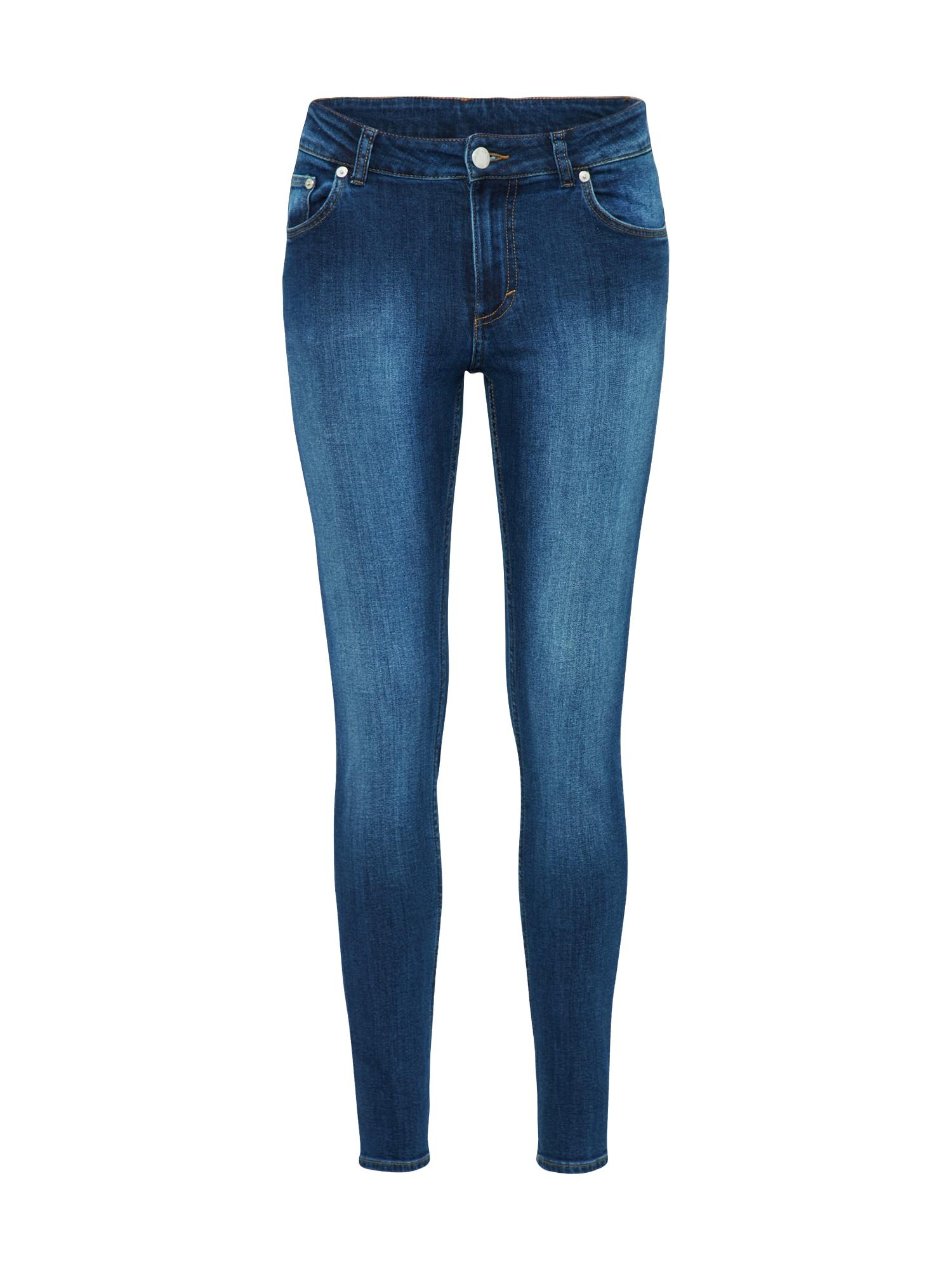 CHEAP MONDAY Dames Jeans Mid Skin blauw