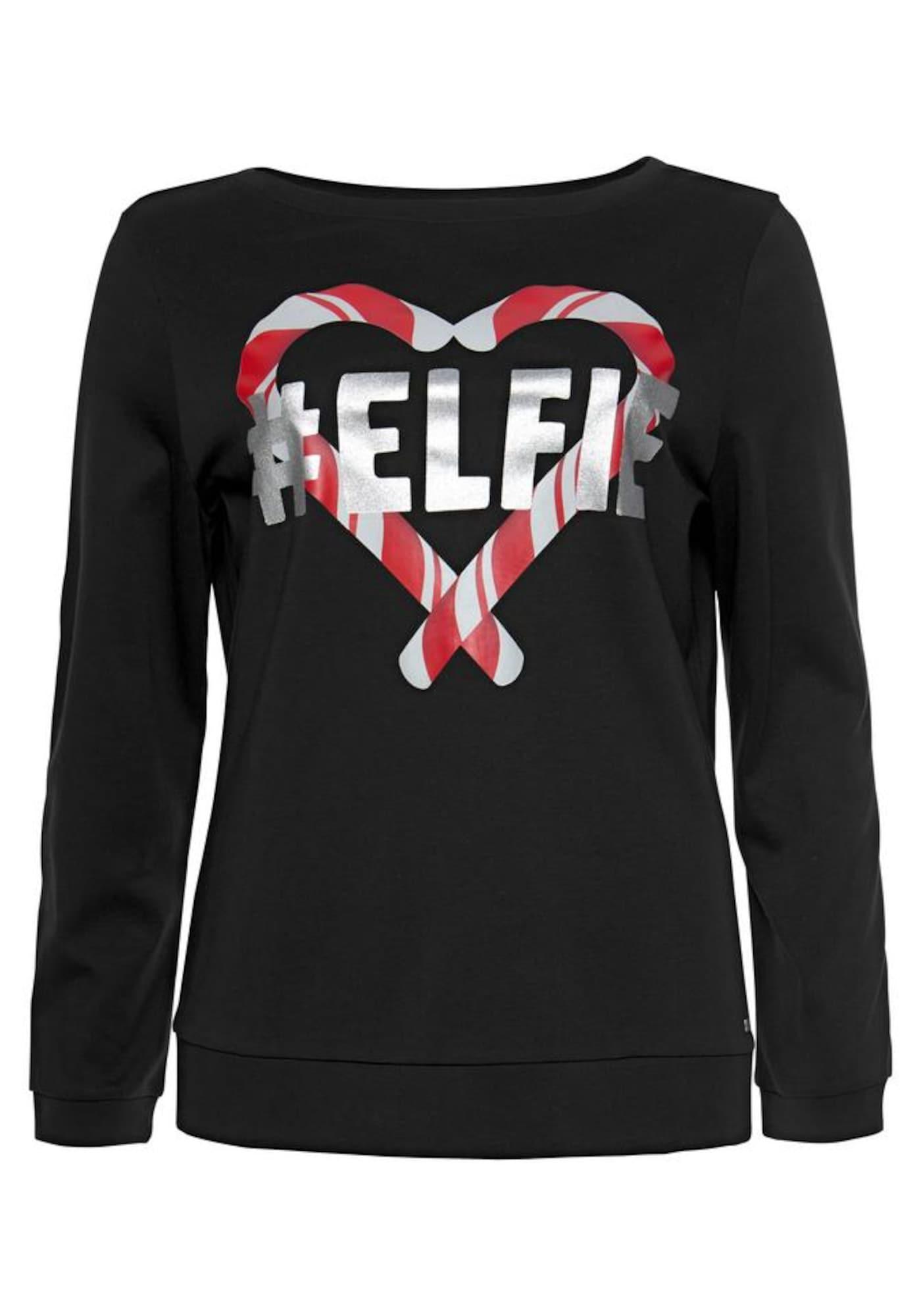 ARIZONA, Dames Sweatshirt, vuurrood / zwart / zilver
