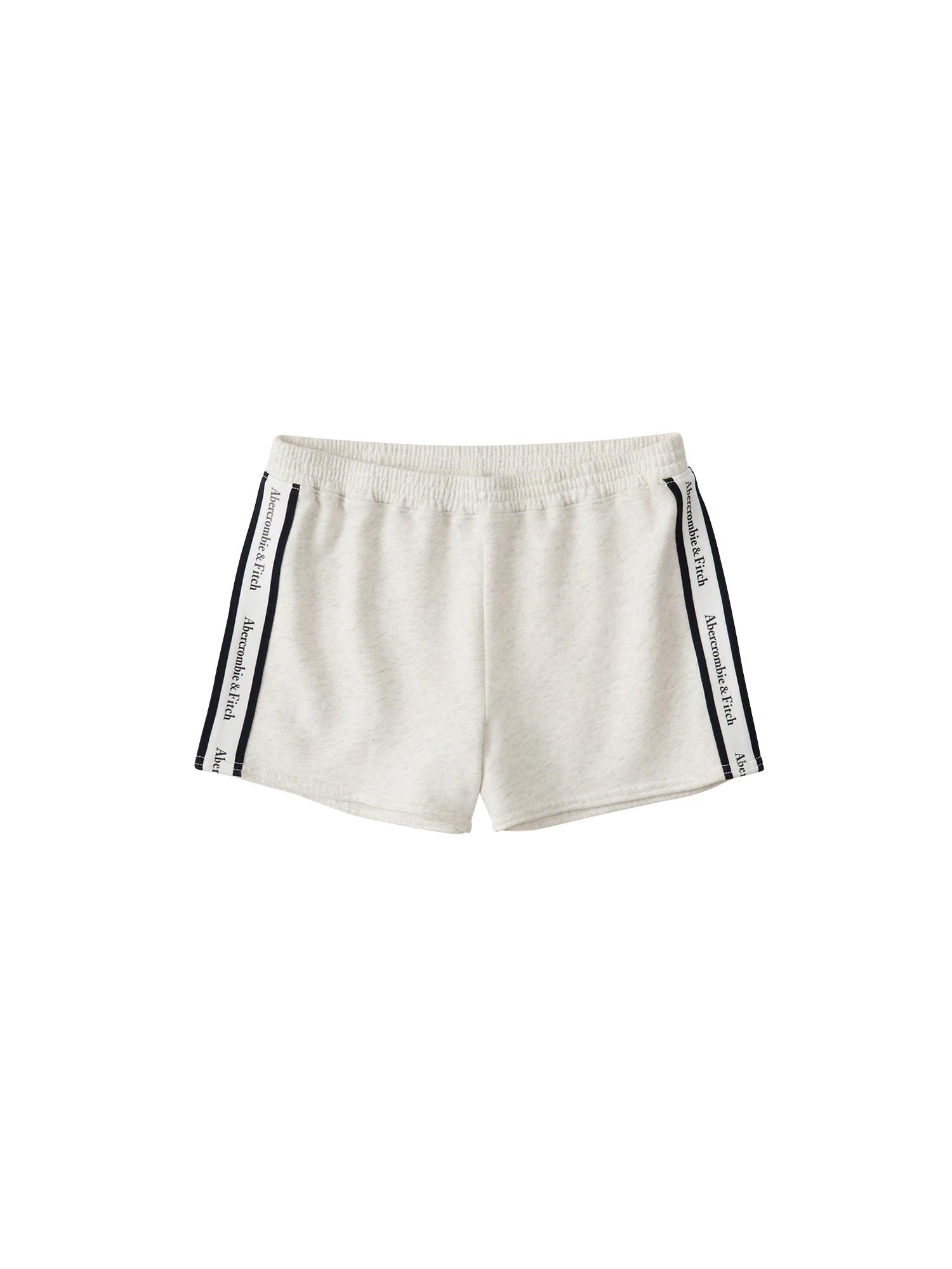 Kalhoty SB19-SPRING LOGO SHORT - LOGO TAPE béžová Abercrombie & Fitch