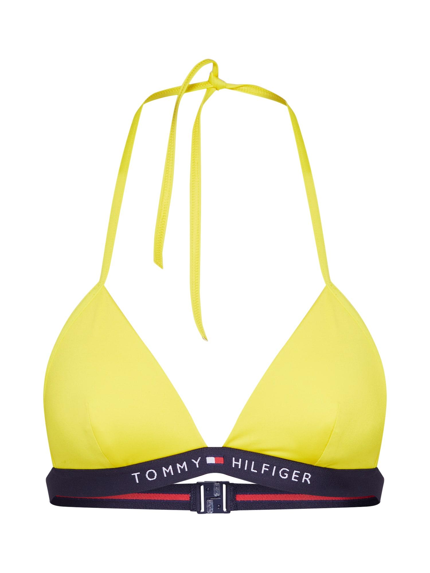 Horní díl plavek Triangle Bras žlutá TOMMY HILFIGER