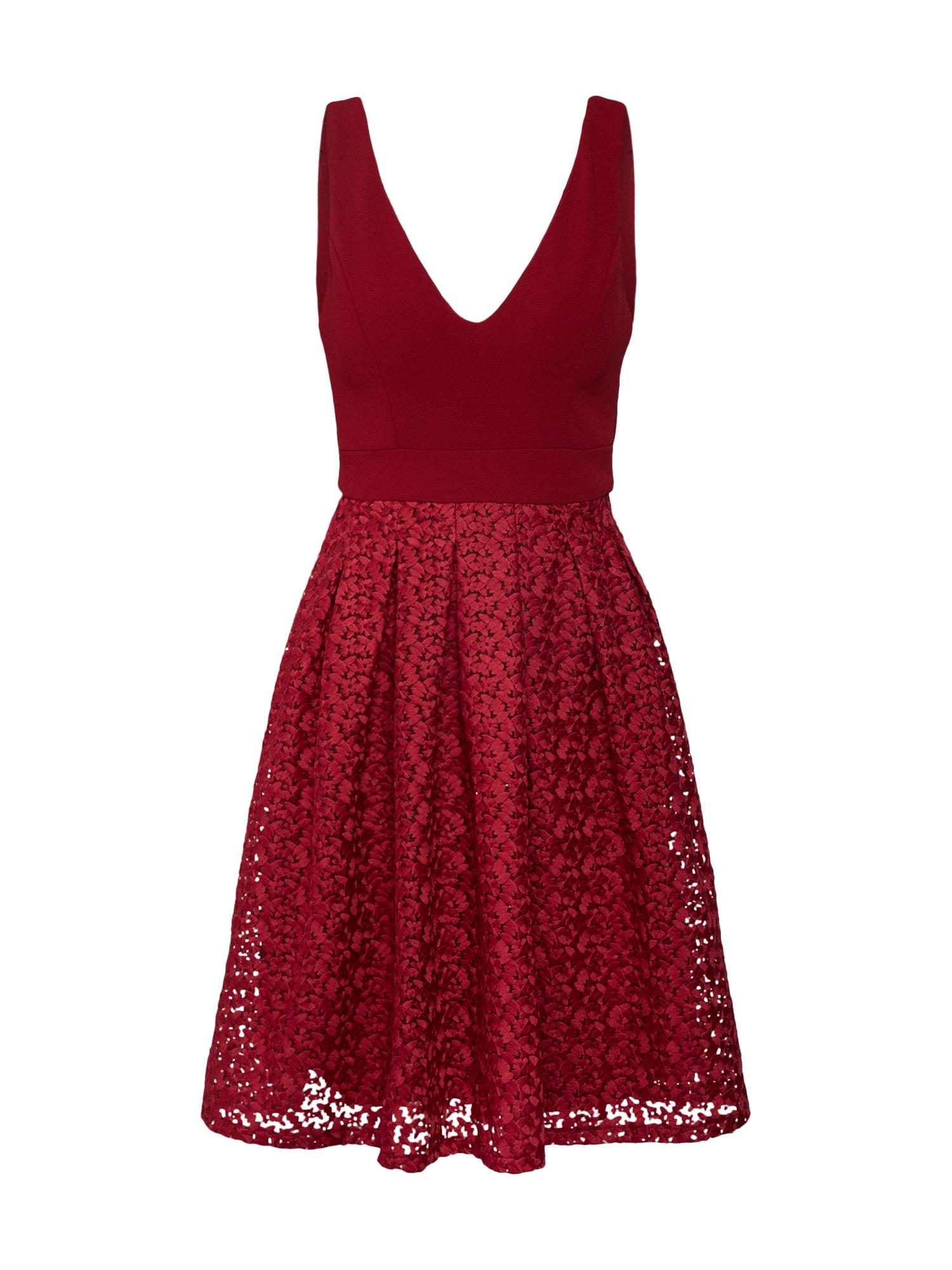 Koktejlové šaty burgundská červeň WAL G.