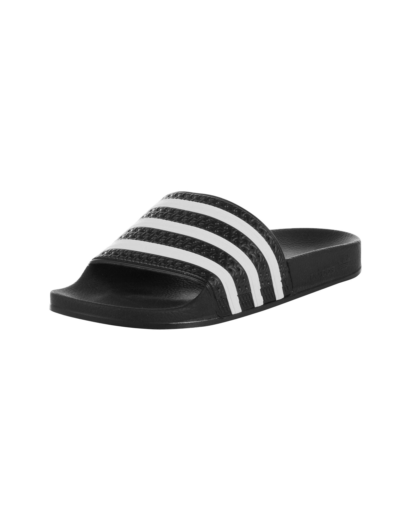 Pantofle Adilette černá bílá ADIDAS ORIGINALS