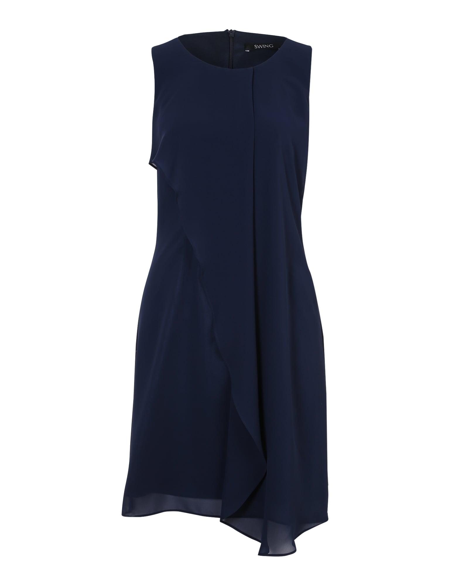 Koktejlové šaty námořnická modř SWING